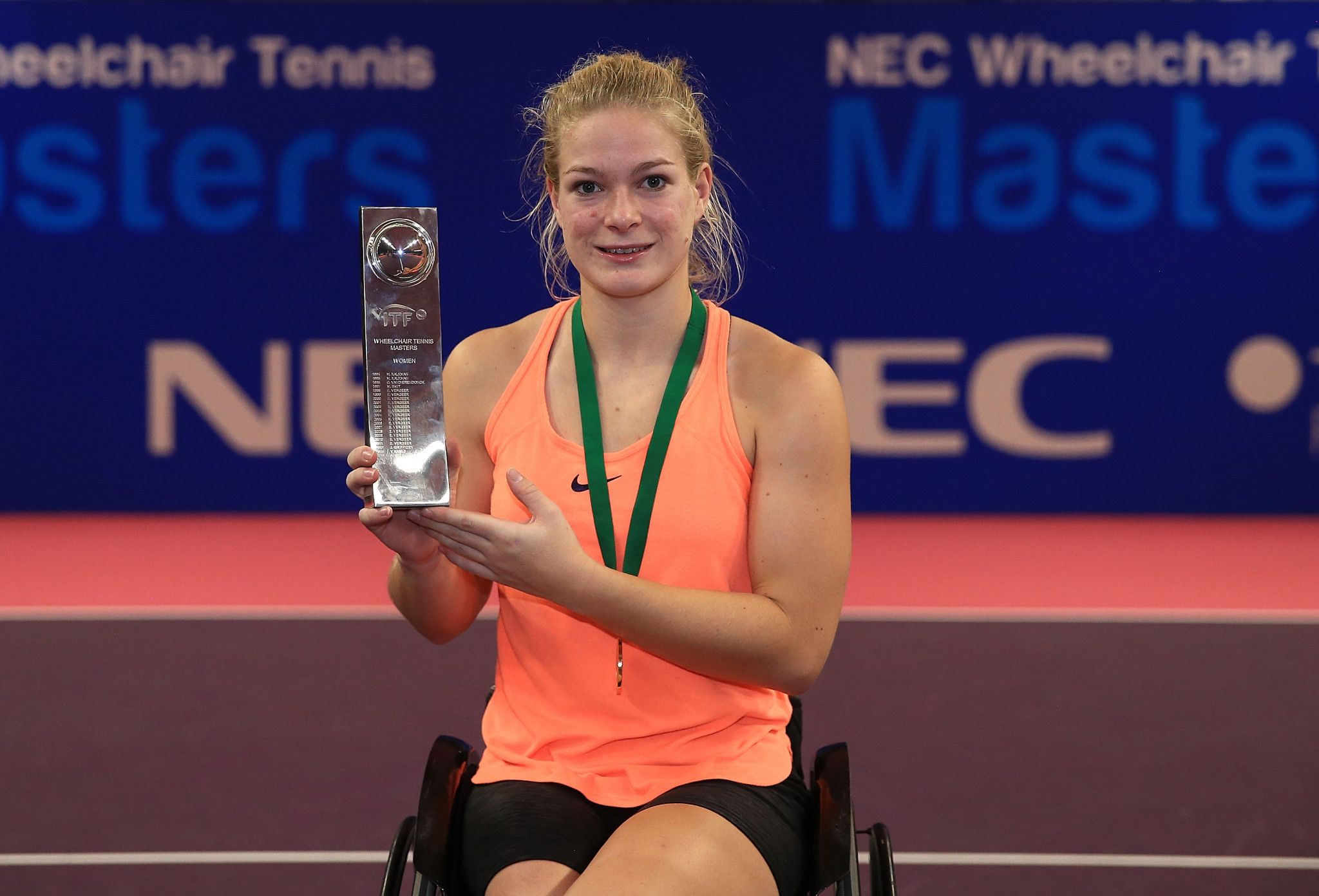 Dutch wheelchair tennis player Diede de Groot has been nominated for the IPC December Allianz Athlete of the Month Award after winning the year-end NEC Masters having also won three Grand Slam singles titles in 2018 ©Getty Images
