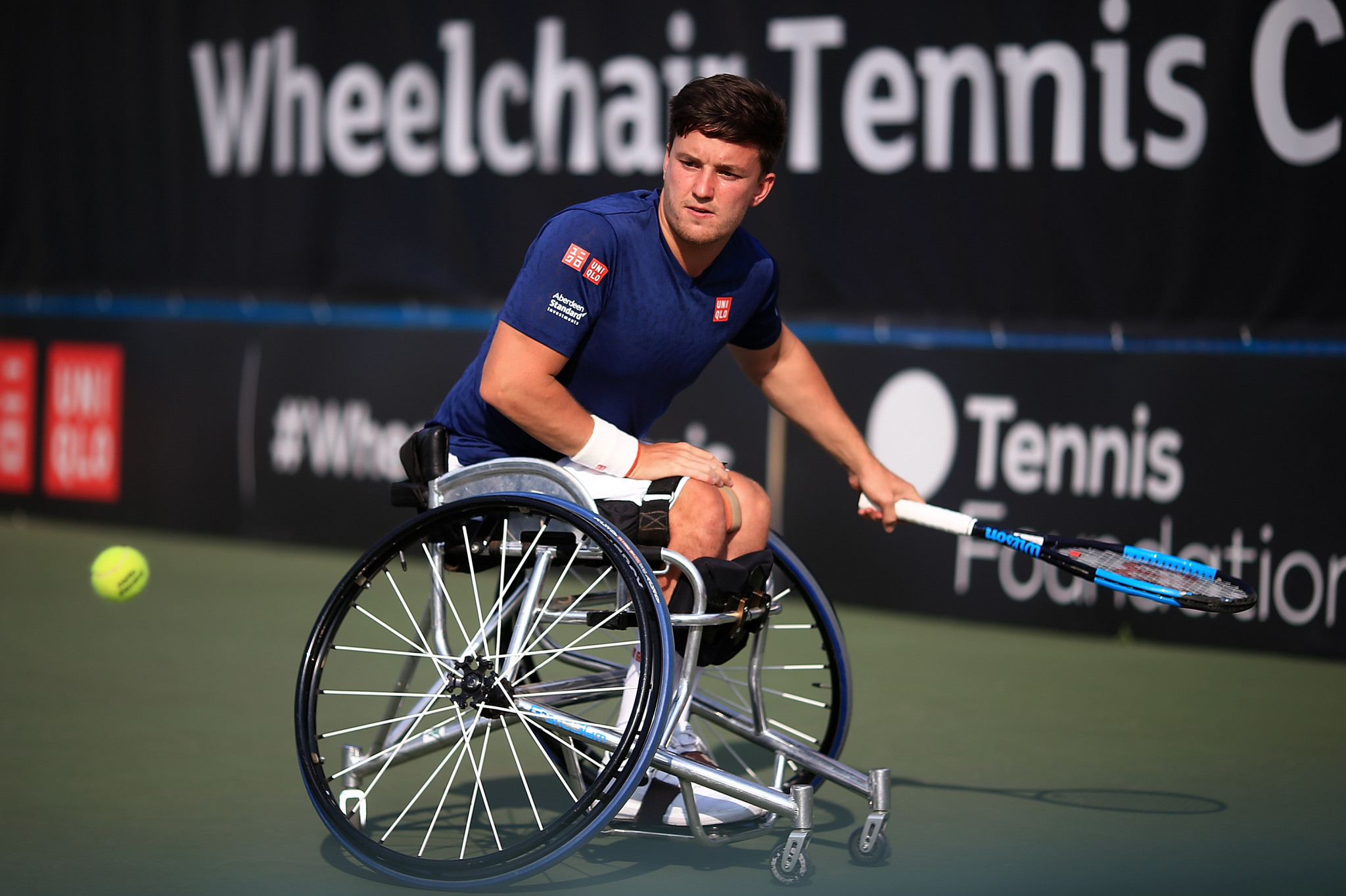 Great Britain's Gordon Reid beat higher-seeded opponent Joachim Gérard of Belgium today to secure his place in the men's singles semi-finals at the Bendigo Wheelchair Tennis Open in Australia ©Getty Images