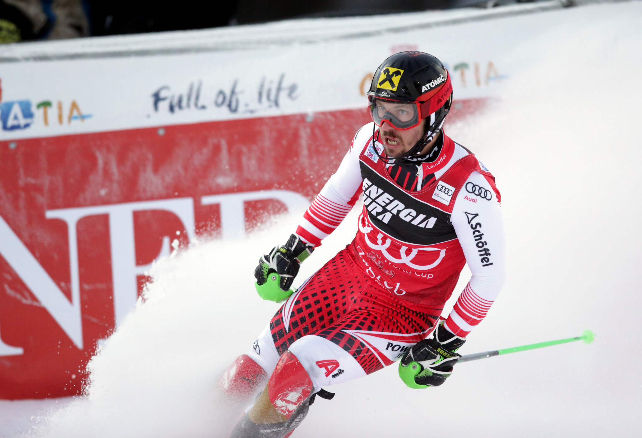 Austria's Marcel Hirscher will be looking to increase his advantage in the FIS Alpine Skiing World Cup standings when Adelboden in Switzerland plays host to the tour's latest stop this weekend ©Getty Images