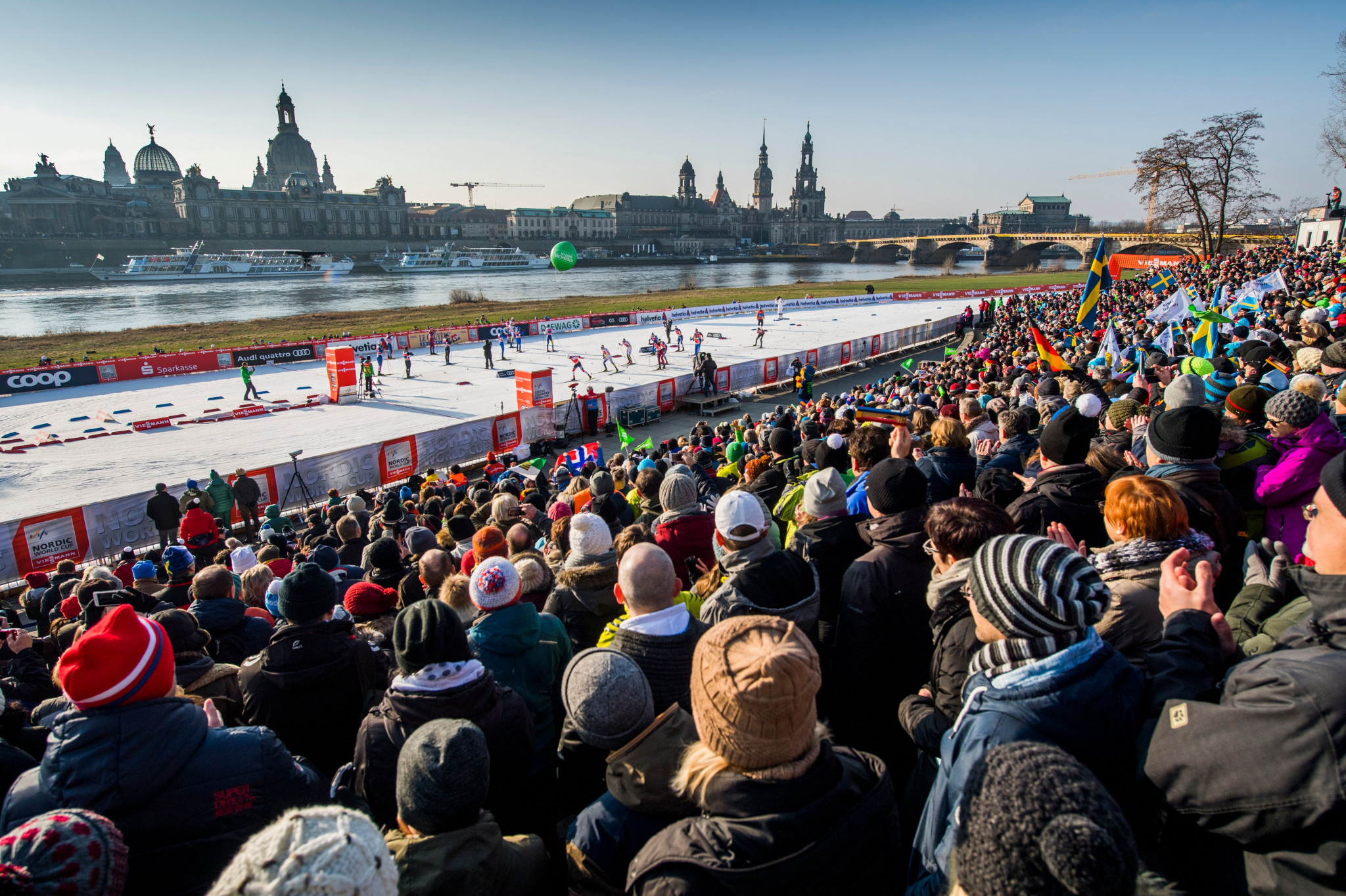 Norwegian pair hoping to hit right notes in front of Semperoper opera house as FIS Cross-Country World Cup heads to Dresden