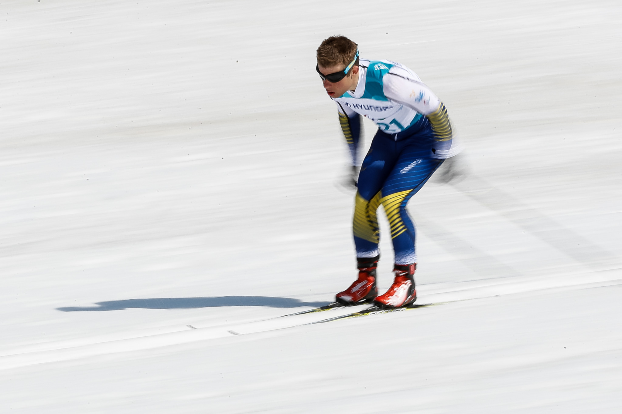 Sweden's Zebastian Modin is favourite to triumph in the visually impaired events at the World Para Nordic Skiing World Cup event in Östersund ©Getty Images