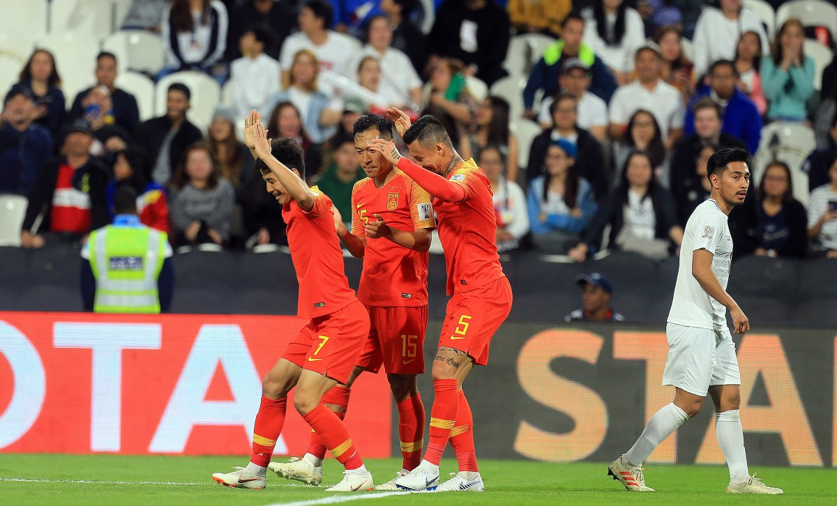 China have ensured their place in the round of 16 at the AFC Asian Cup with a 3-0 win over the Philippines ©AFC