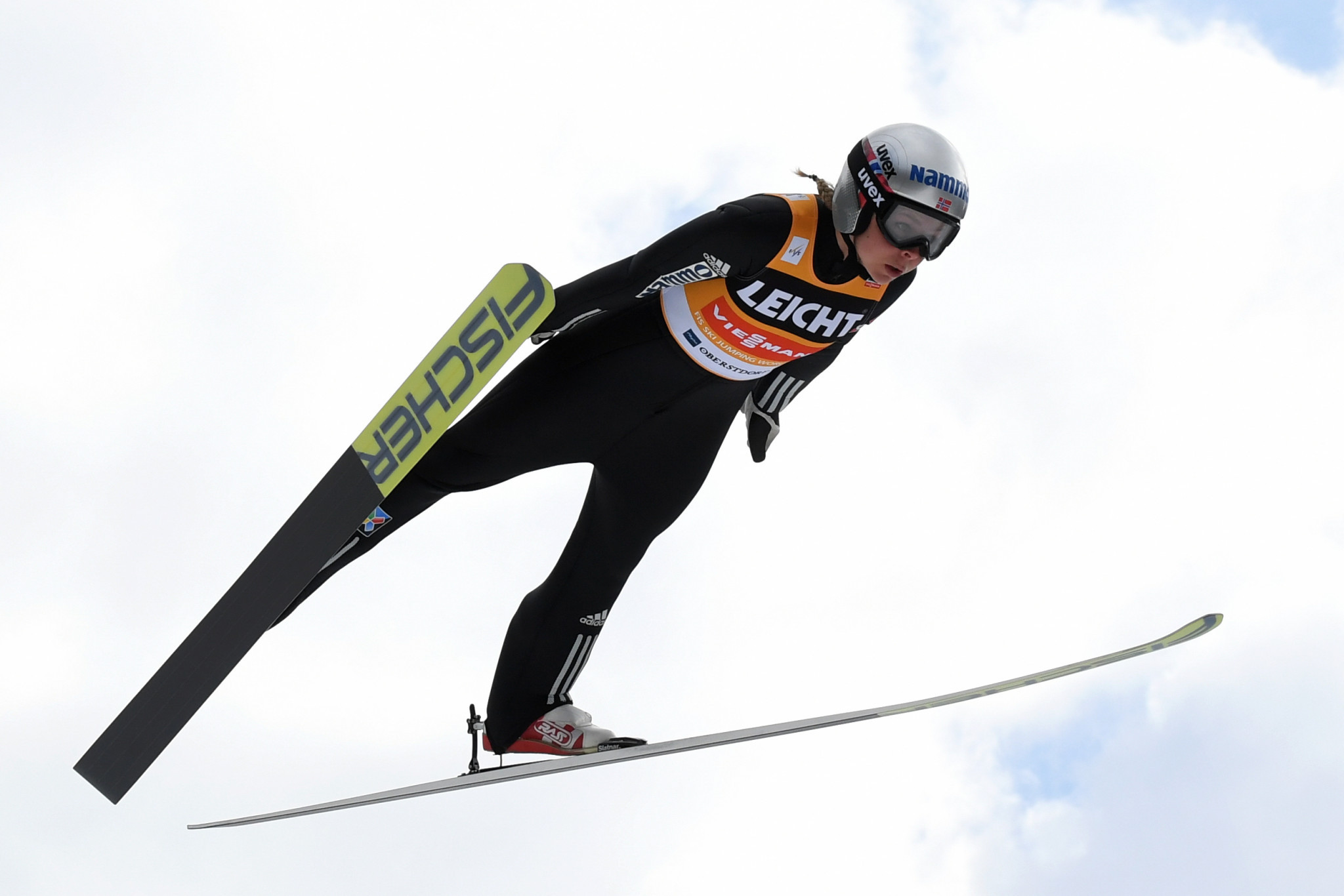Maren Lundby of Norway finished first in qualifying for the FIS Women's Ski Jumping World Cup in Sapporo ©Getty Images