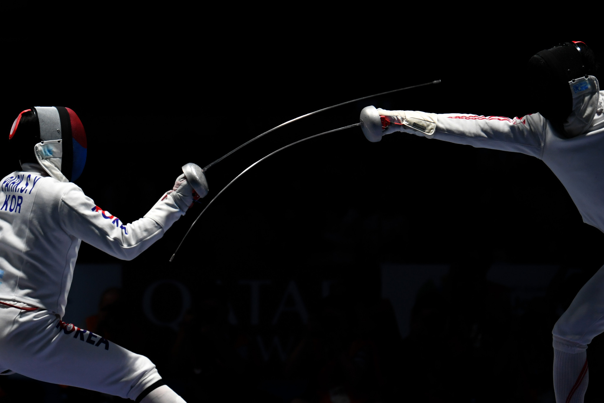 Japan's Koki Kano, right, was knocked out in the semi-finals ©Getty Images