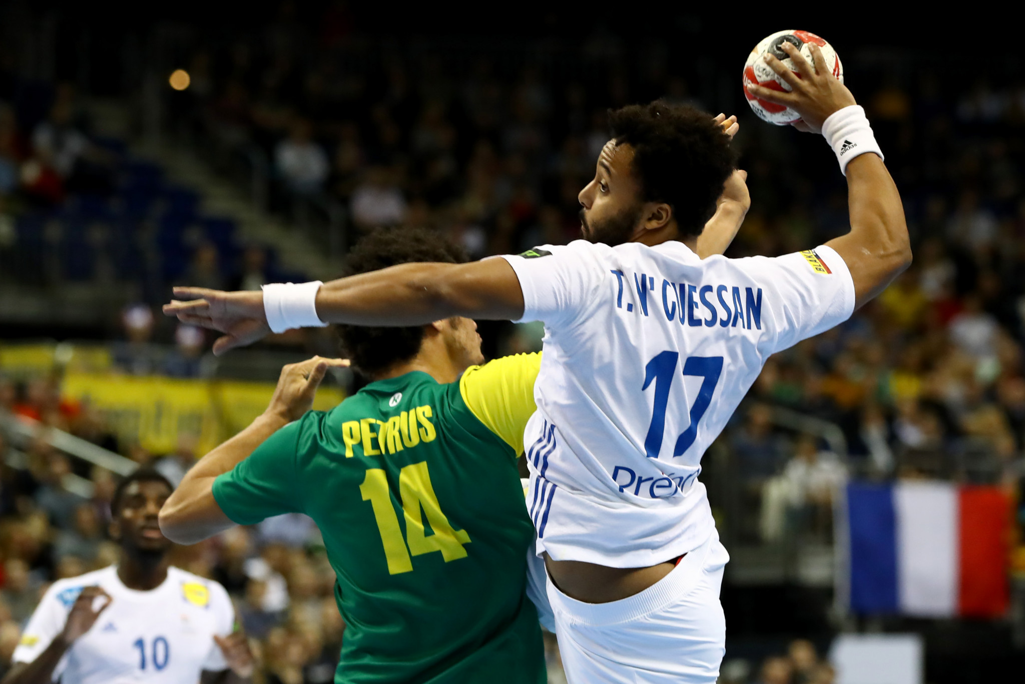 Defending champions France defeated Brazil in their opening game of the IHF Men's Handball World Championship in Berlin ©Getty Images