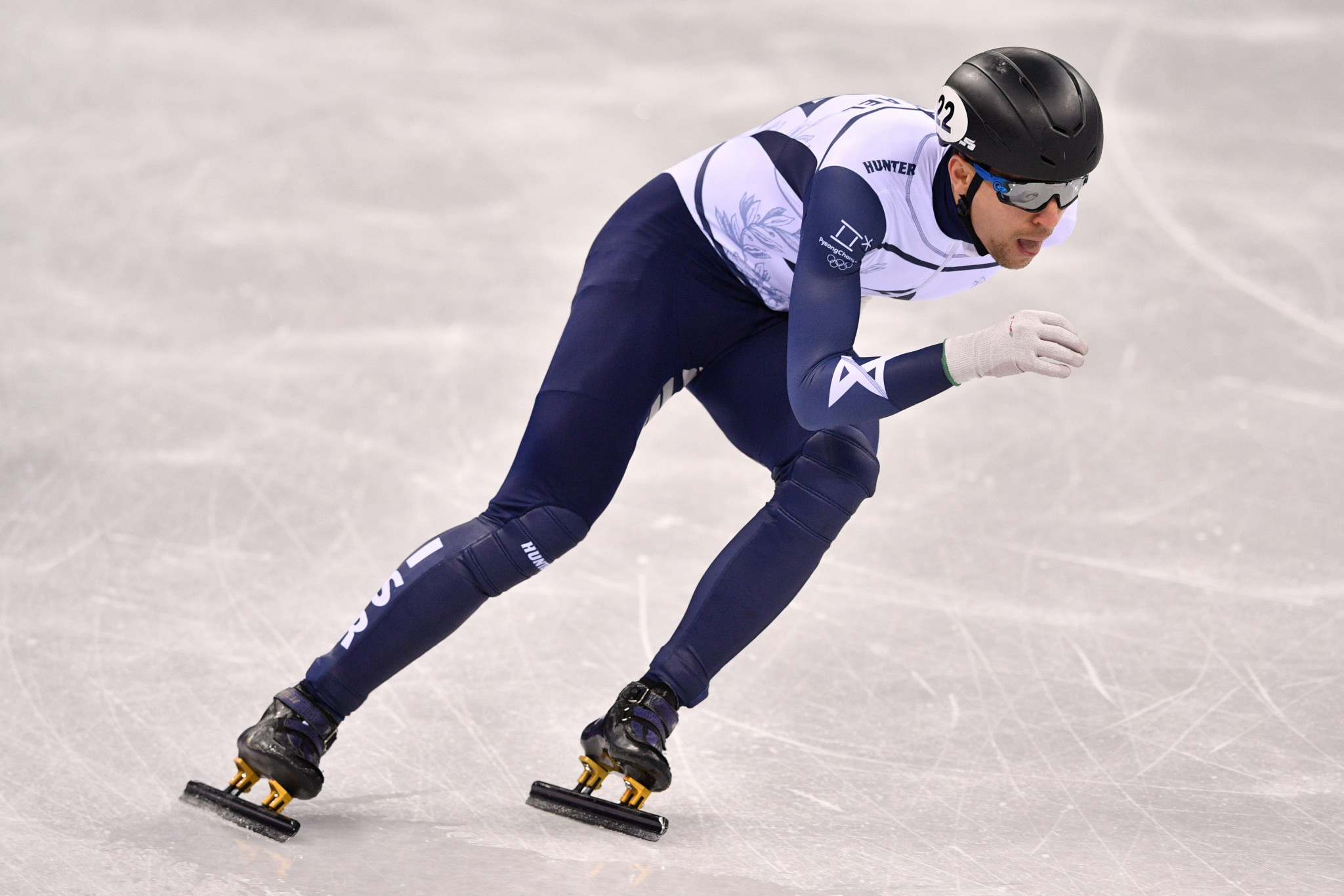 Israel's Vladislav Bykanov was the fastest qualifier in the men's 1,000m and 1,500m event on the first day of the ISU European Short Track Speed Skating Championships ©Getty Images