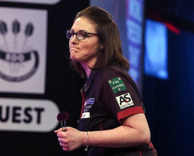 Top seed Lorraine Winstanley is into the final of the women's event at the BDO World Darts Championship ©Getty Images
