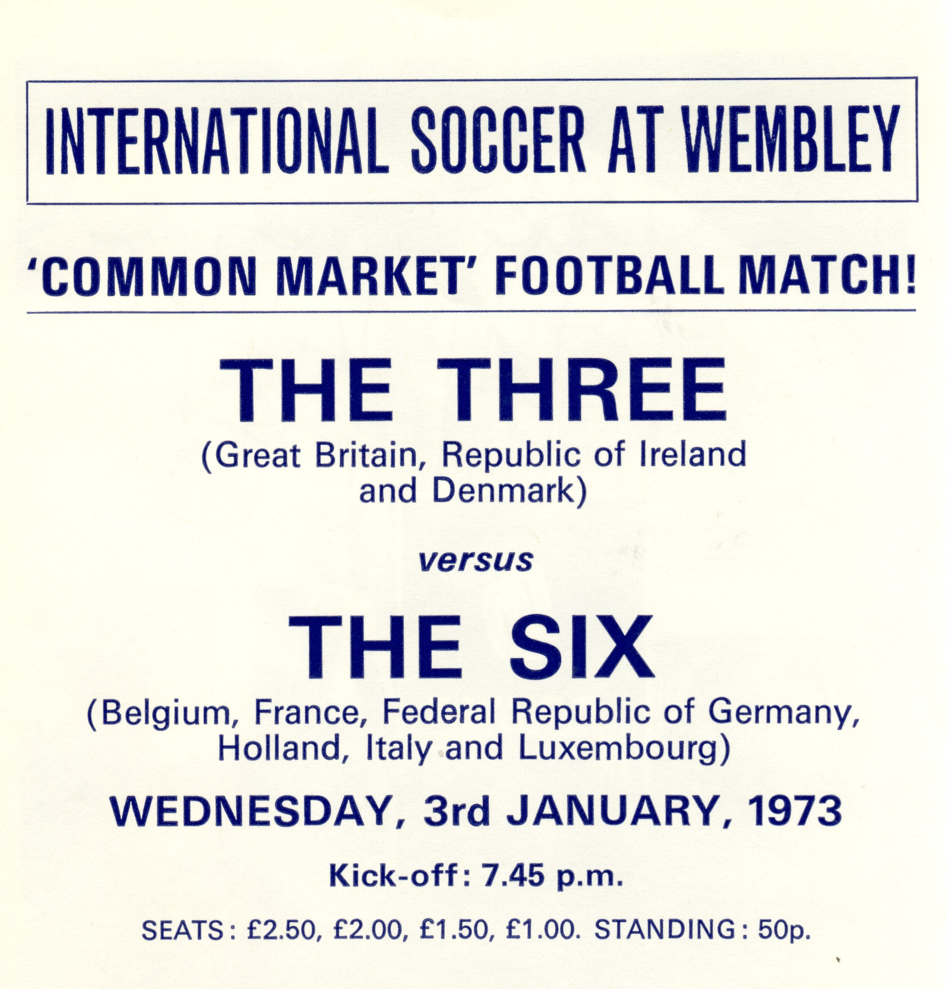 Interest in the match at Wembley Stadium was low, despite the cheap tickets available ©Philip Barker