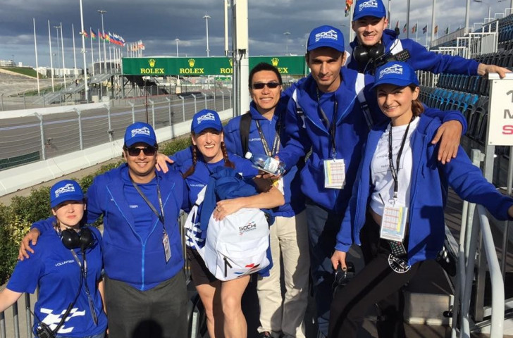RIOU's Master of Sport Administration students completed a placement programme at last weekend's Formula One Russian Grand Prix in Sochi ©RIOU