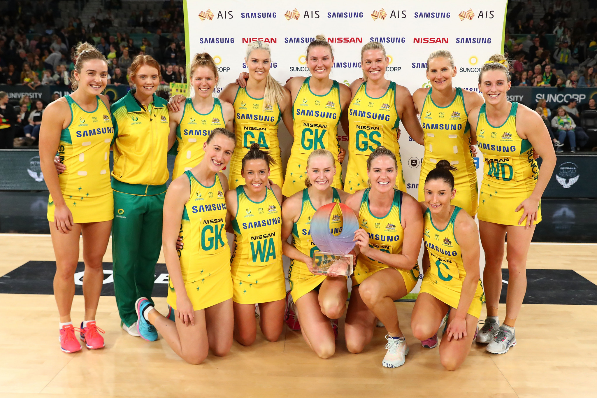 Australia will look to defend their Quad Series title when the competition begins tomorrow in Liverpool ©Getty Images