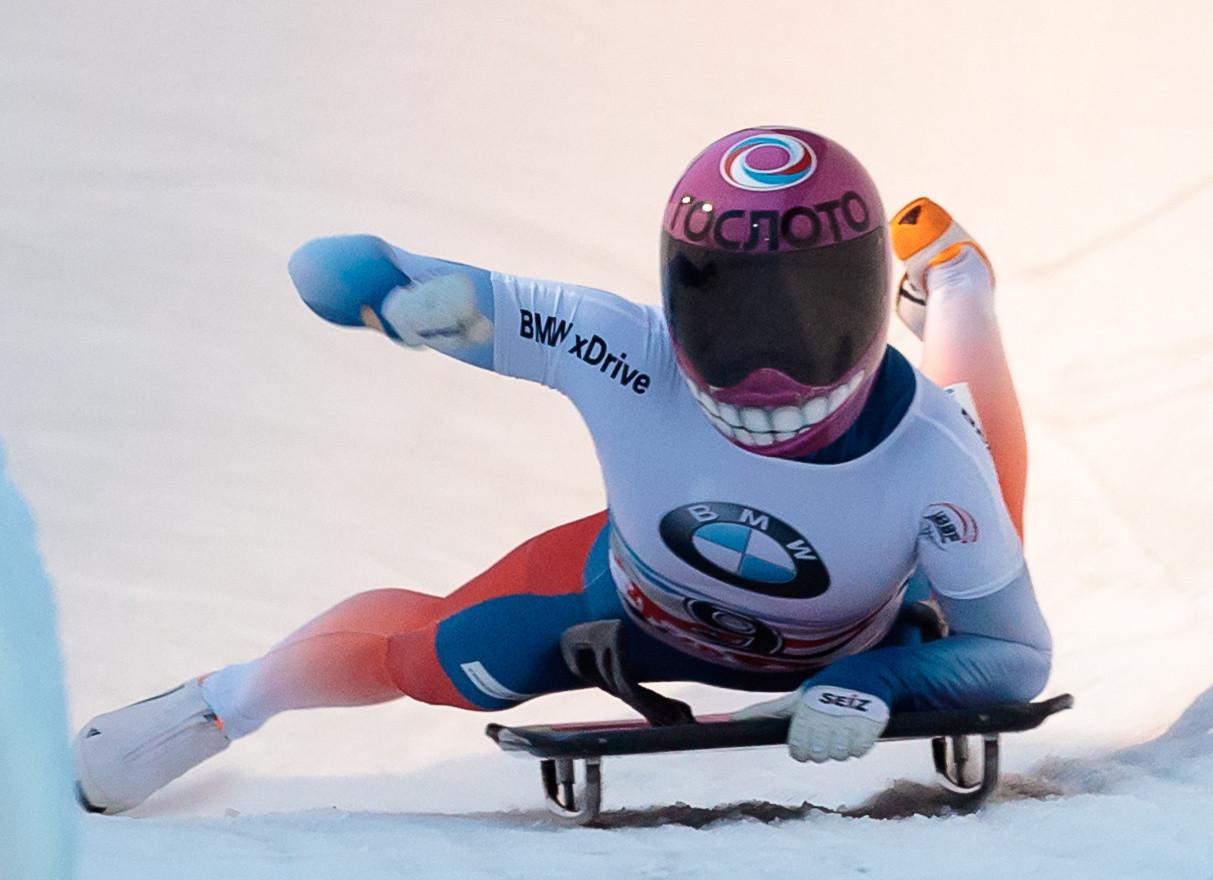 Elena Nikitina has won two World Cup skeleton events this season ©Getty Images