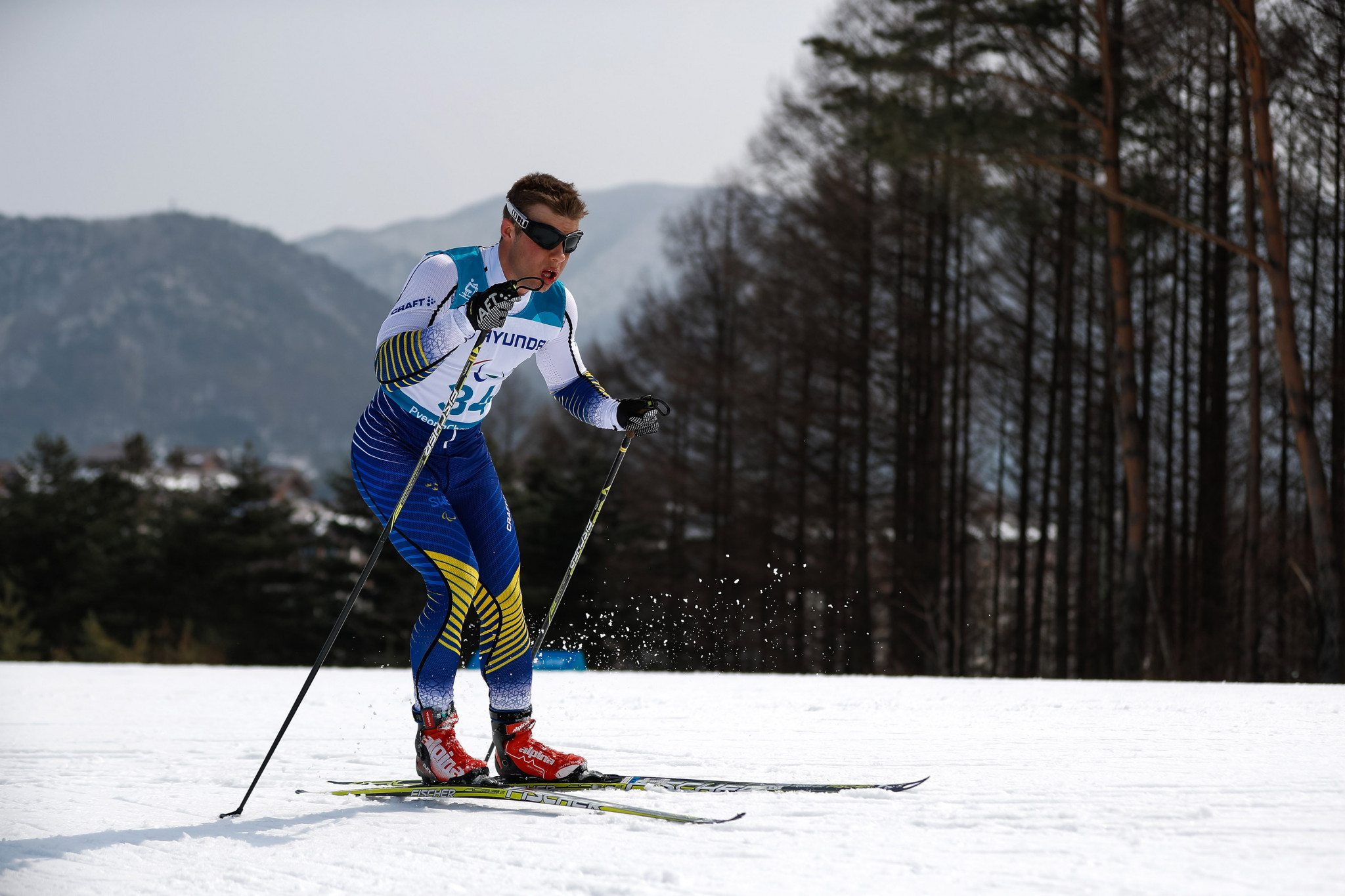 Zebastian Modin won the visually impaired middle cross-country event at the World Para Nordic Skiing World Cup in Östersund ©Getty Images