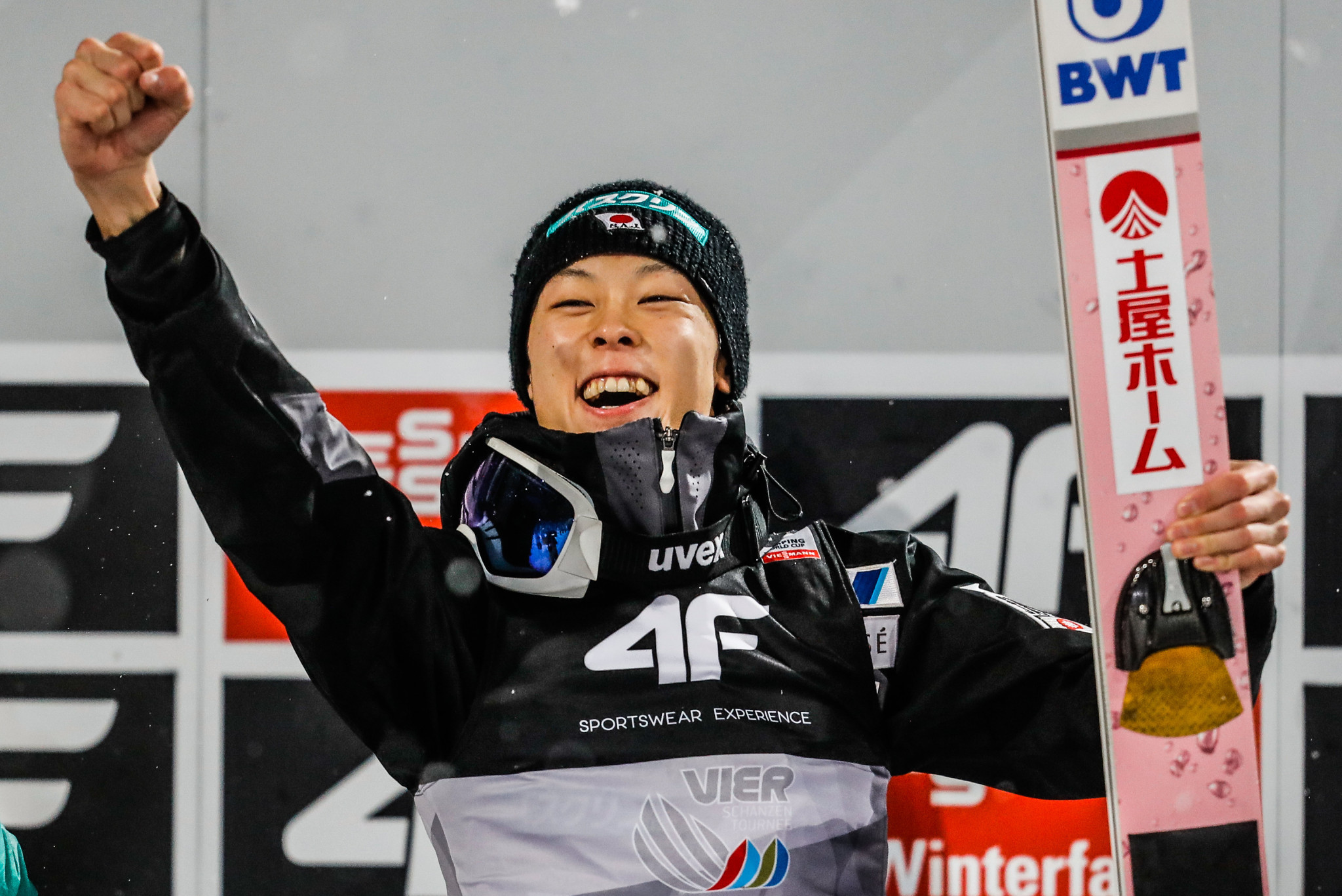 Japan's Ryoyu Kobayashi has become the fifth male ski jumper to win six consecutive FIS Ski Jumping World Cup events ©Getty Images