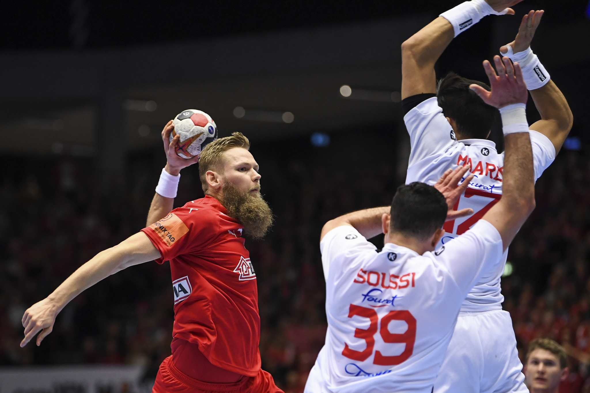 Denmark defeated Tunisia 36-22 to get their second victory of the IHF Men's Handball Championships ©Getty Images