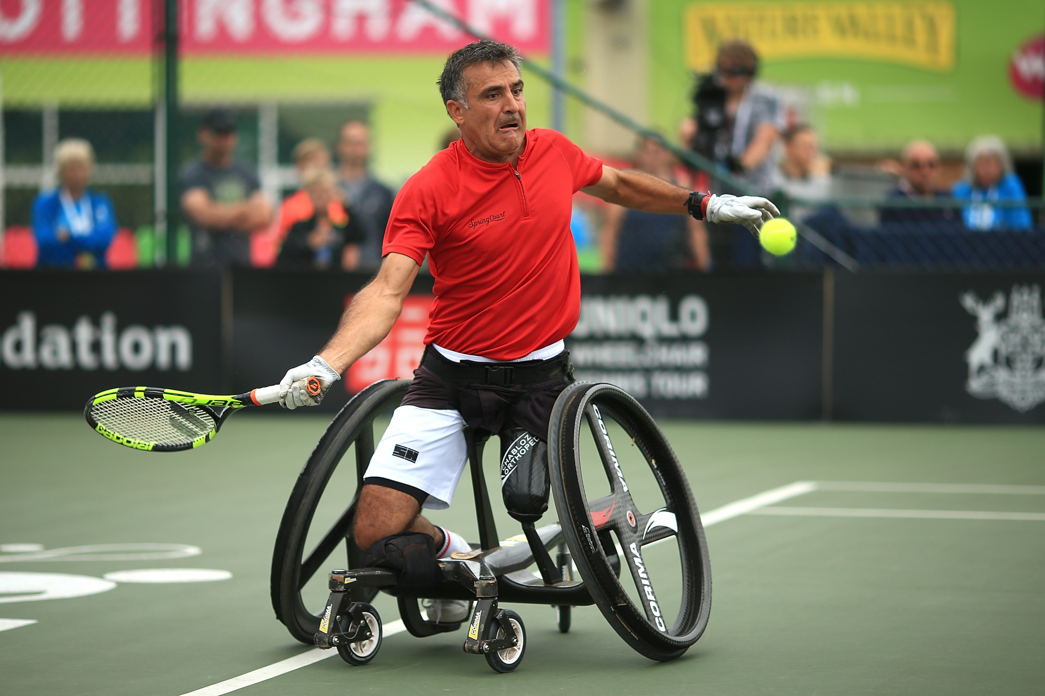 Stephane Houdet battled to victory in the men's singles final ©Getty Images