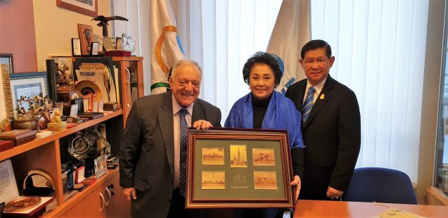 The President of the Thailand Amateur Weightlifting Federation Boossaba Yodbangtoey visited IWF President  Tamás Aján in Budapest ©IWF