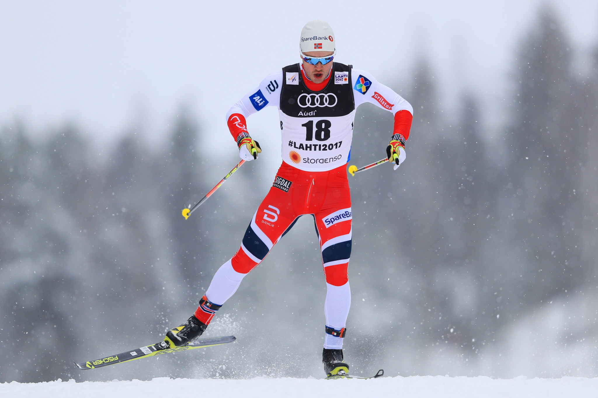 Norway and Sweden control team sprint action at FIS Cross Country World Cup in Dresden