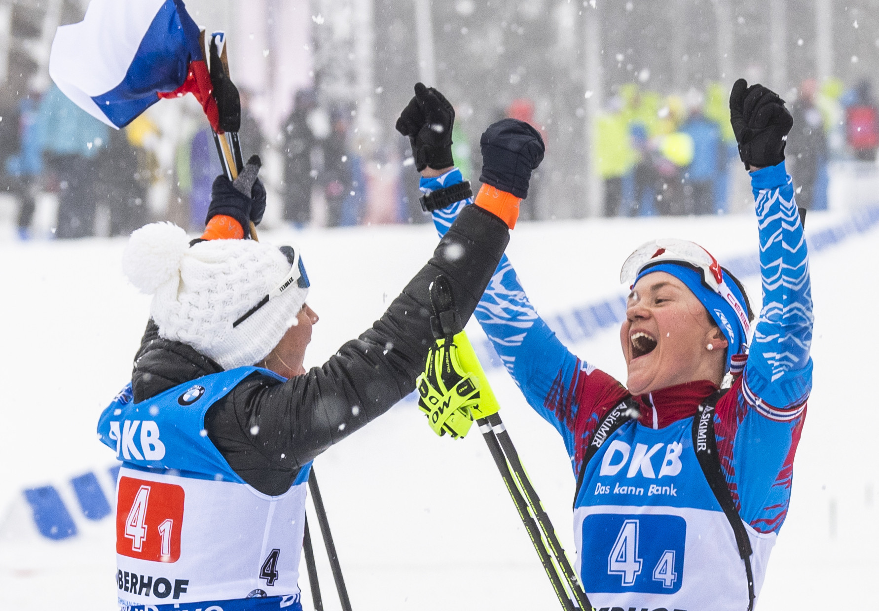 Russia won both the men's and women's relays at the IBU World Cup in Oberhof today ©Getty Images