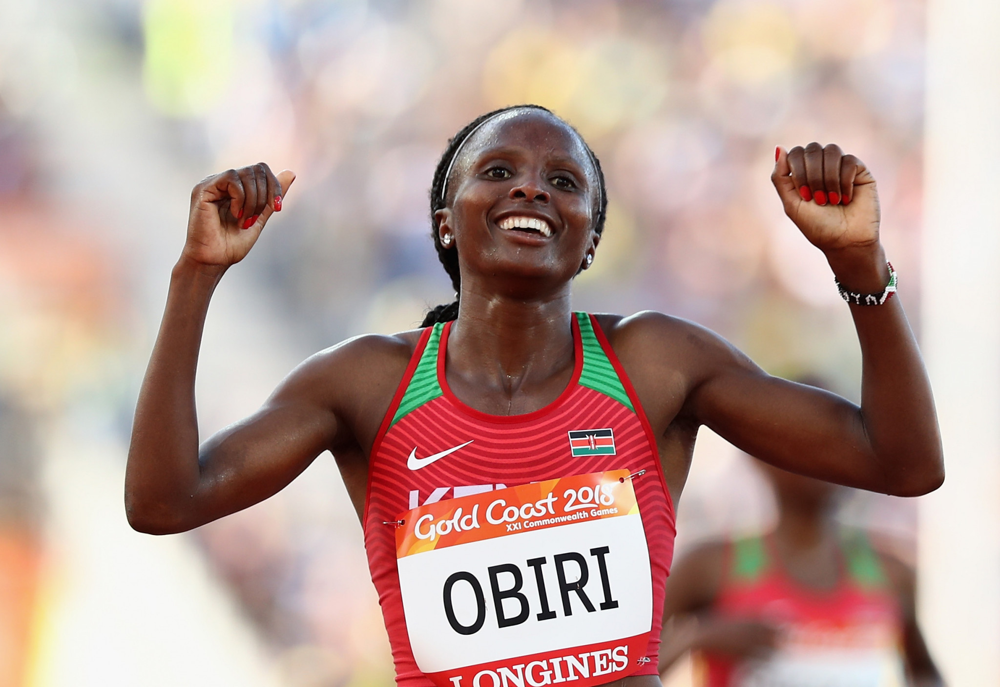 World and Commonwealth 5,000m champion Hellen Obiri won the women's race with a 20 second lead ©Getty Images