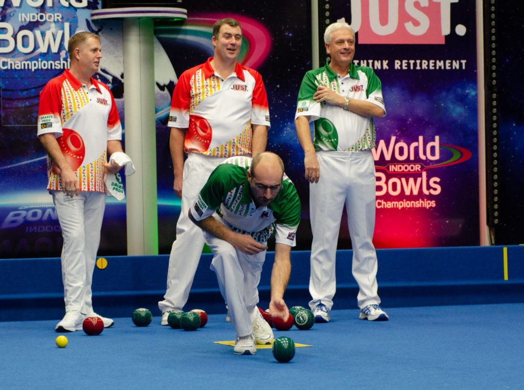 Mark Royal and Andy Thomson have advanced into the pairs semi-finals at the World Indoor Bowls Championships ©World Bowls Tour