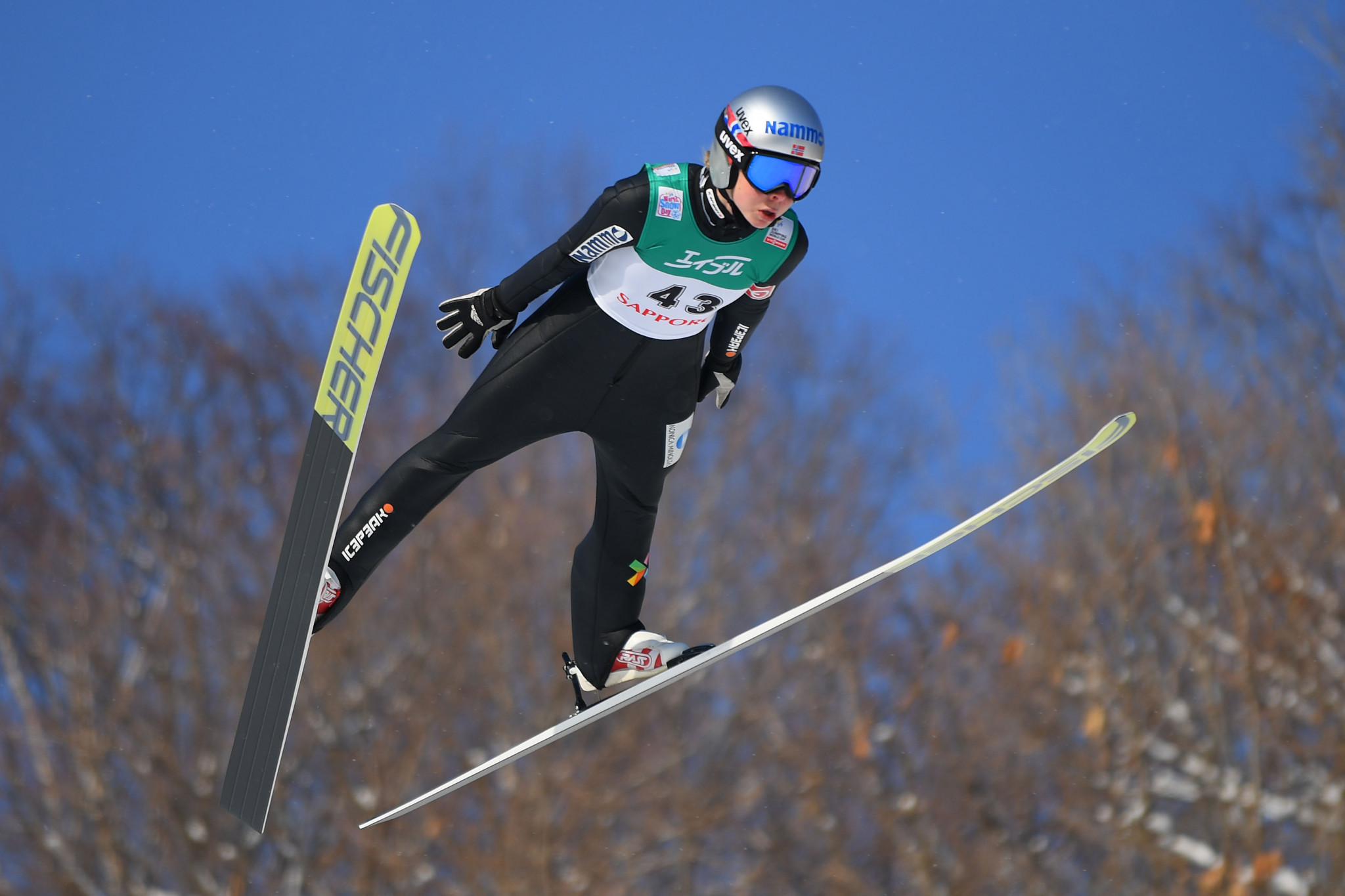 Olympic champion Maren Lundby of Norway won the women's FIS Ski Jumping World Cup event in Sapporo ©Getty Images