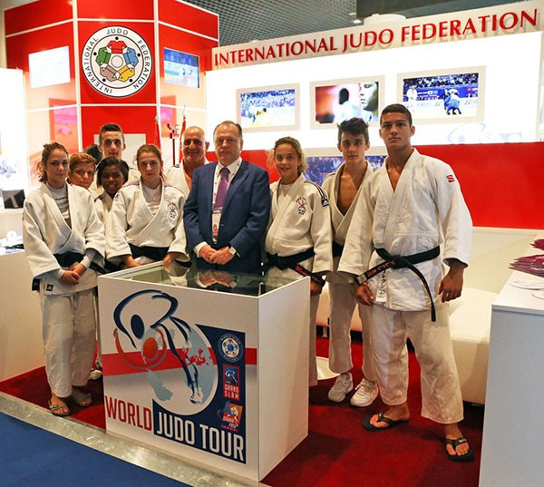 Judo has held demonstrations at the SPORTEL conference in Monte Carlo which were attended by IJF President Marius Vizer