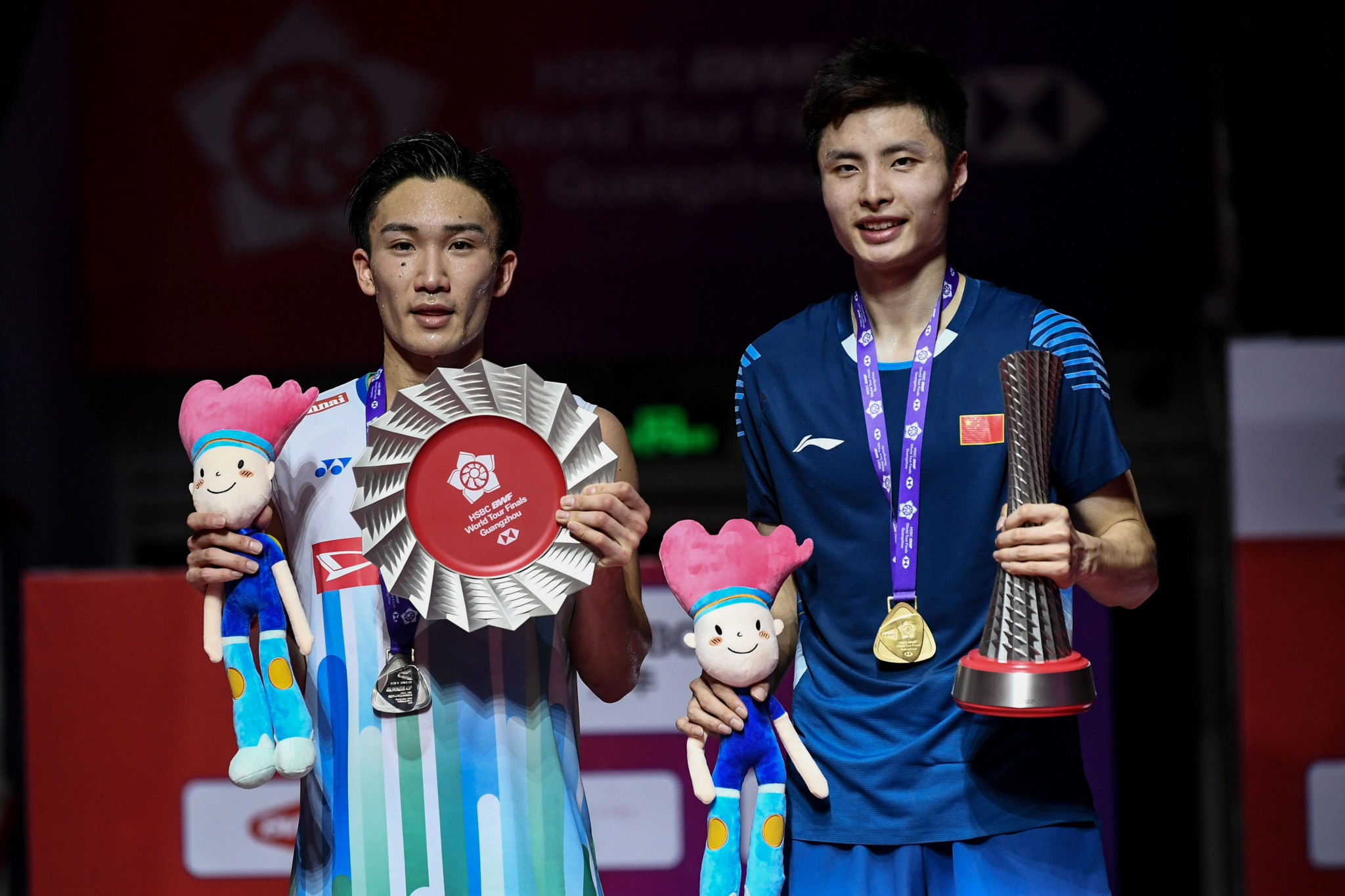 Kento Momota, left, and Shi Yuqi, right, could meet once again in the final of the BWF Malaysia Open ©Getty Images