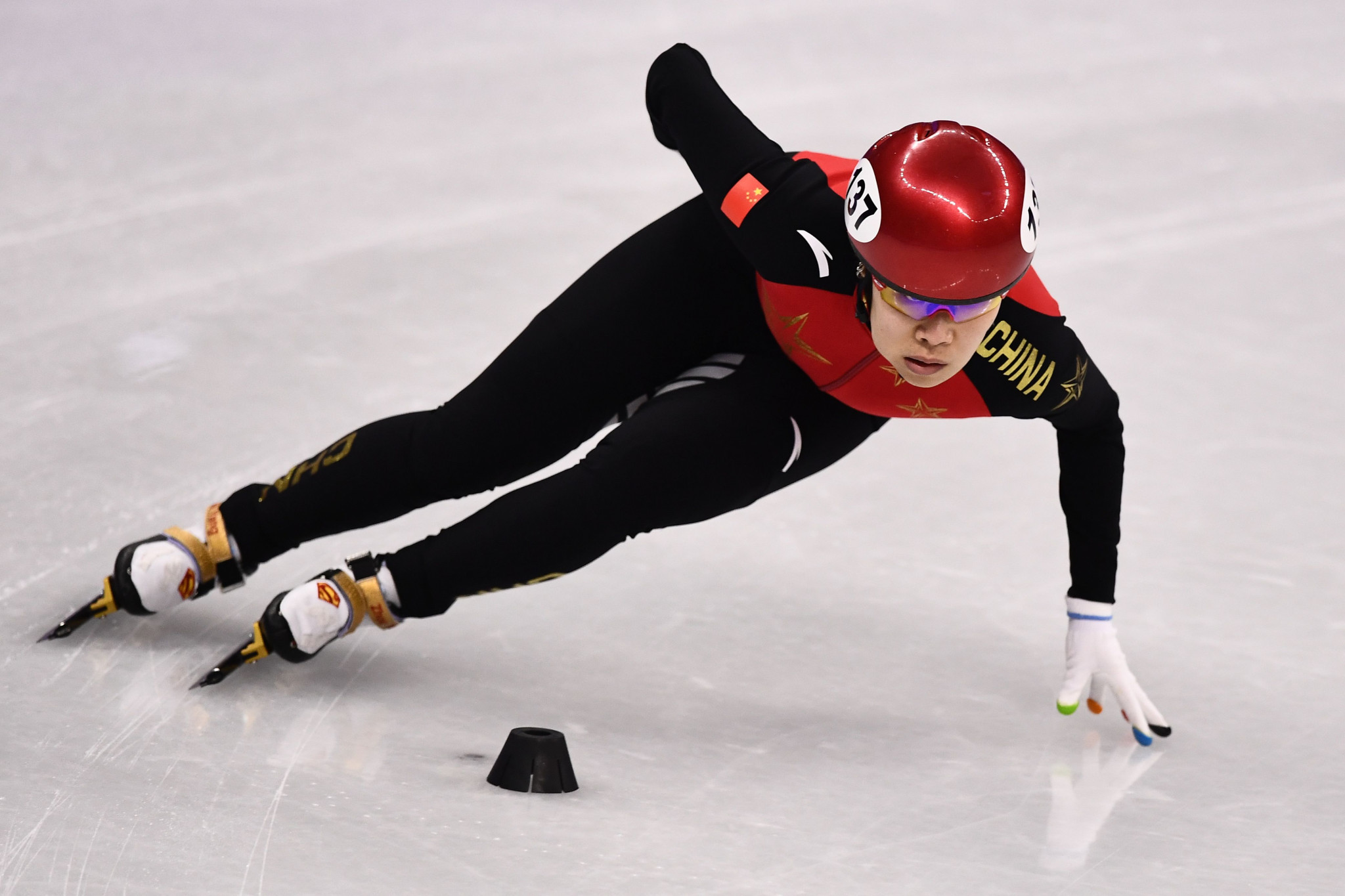 Zhou Yang has been elected by default as the only short track speed skater to put herself forward ©Getty Images
