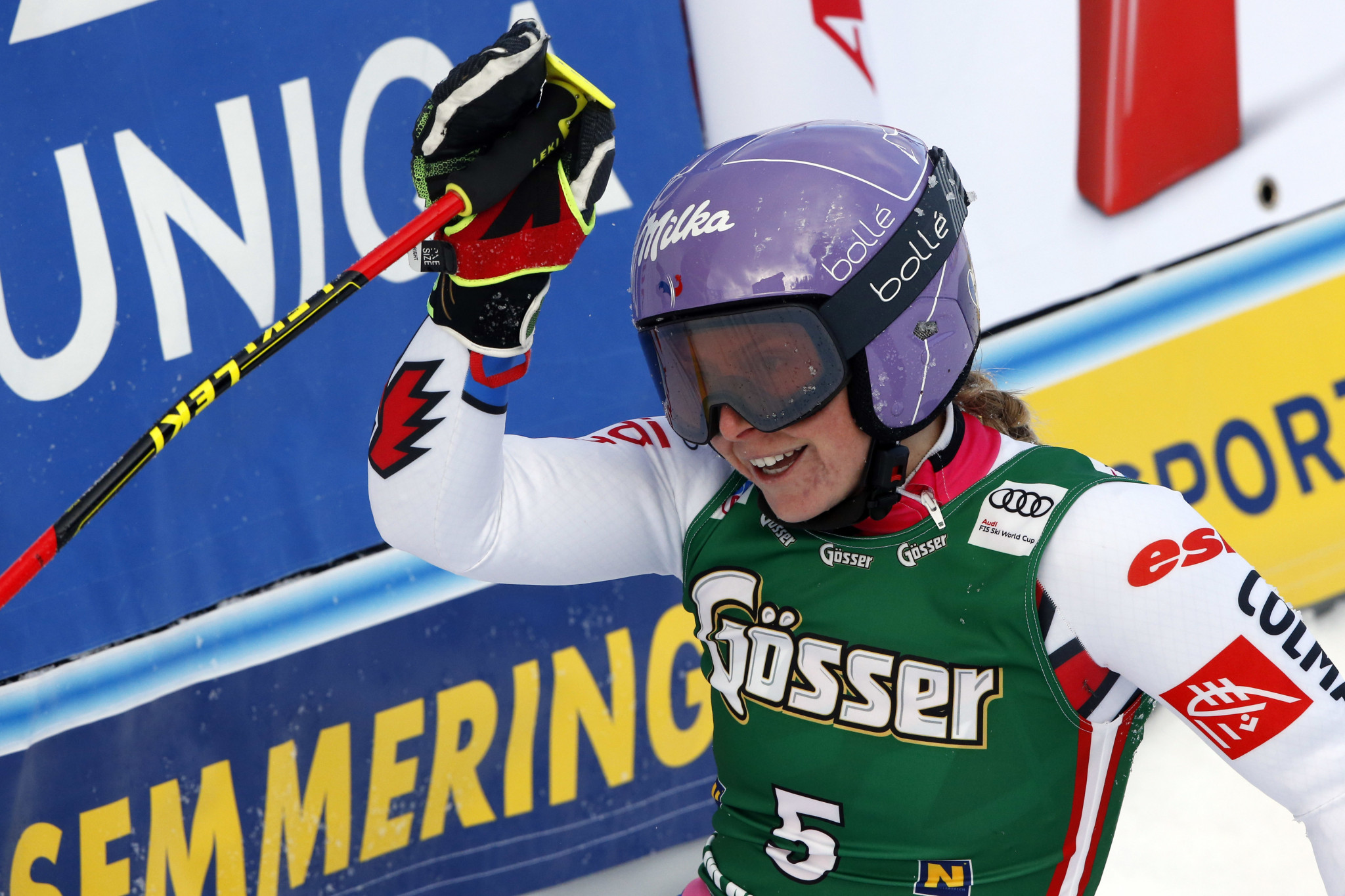 Tessa Worley will aim for a second giant slalom victory of the season ©Getty Images