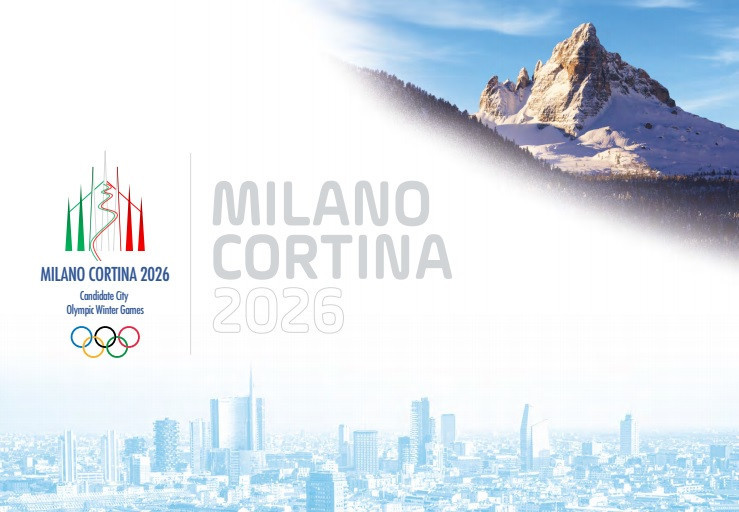 The joint Italian bid from Milan-Cortina d'Ampezzo also submitted its candidature file to the IOC ©Milan-Cortina d'Ampezzo 2026