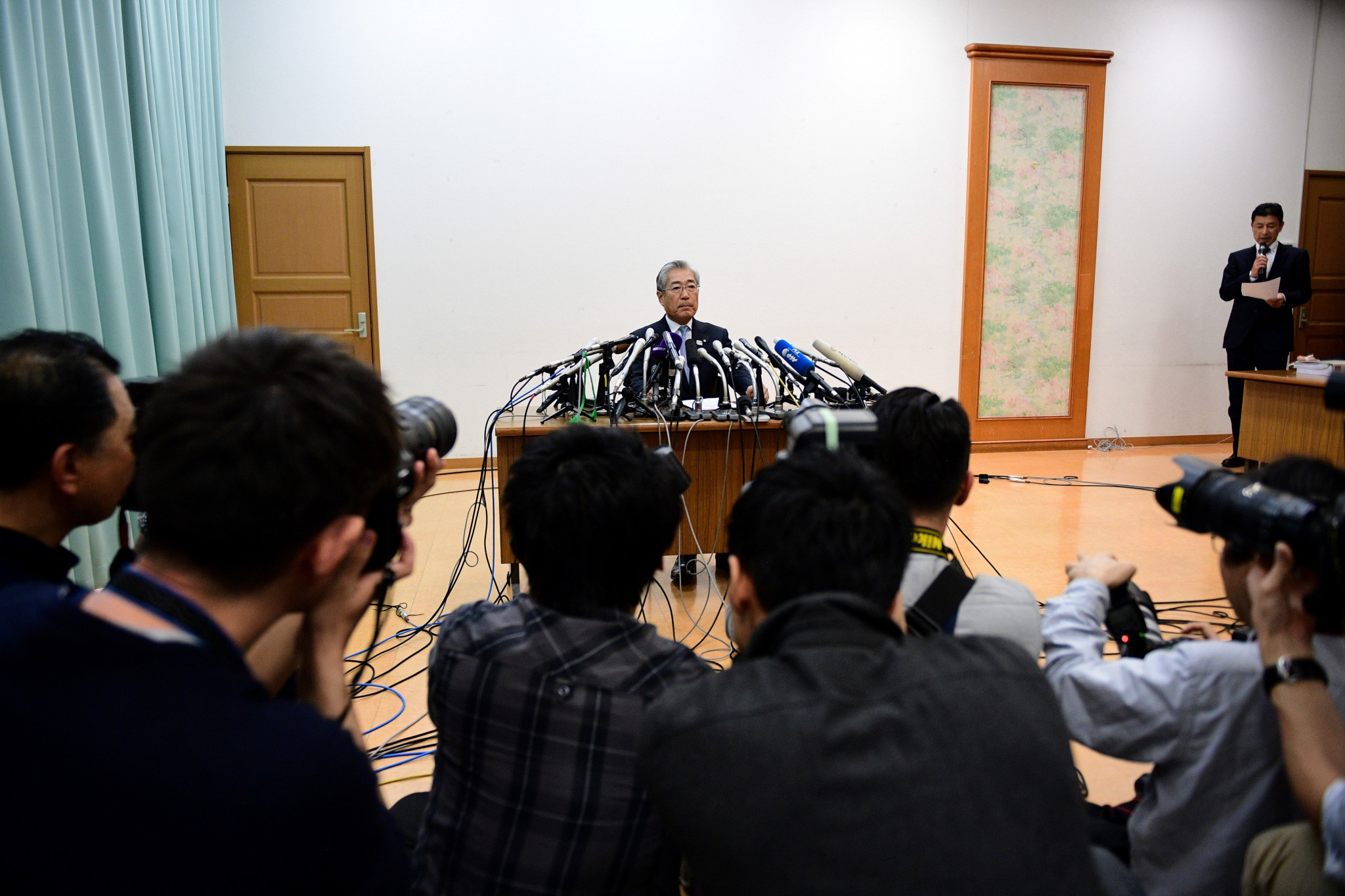 Tsunekazu Takeda gave a short press conference in Tokyo today but did not take any questions ©Getty Images
