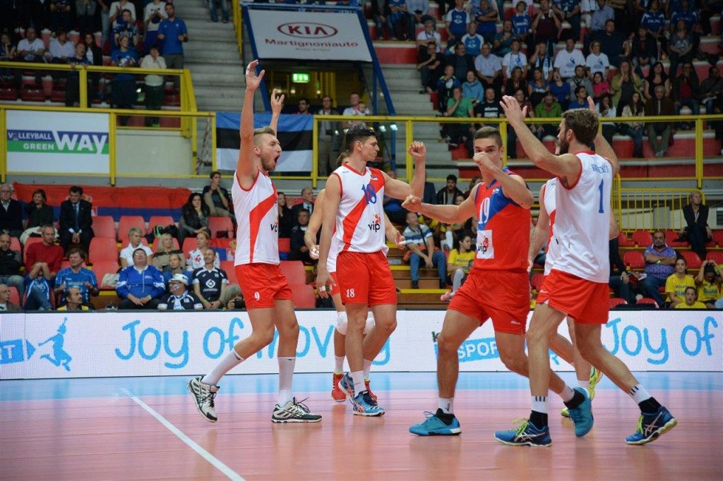 Serbia survive scare with comeback victory over Estonia at Men's European Volleyball Championships