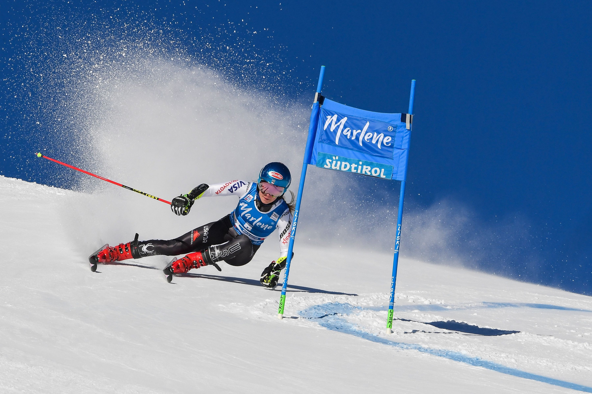 American star Mikaela Shiffrin claimed her 10th win of the season today ©Getty Images