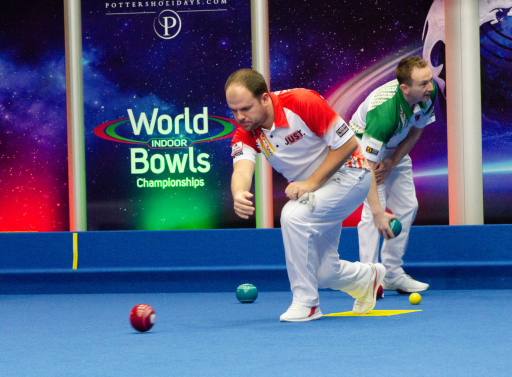 Jamie Chestney beat wildcard James Rippey in an all-English first-round singles clash at the World Indoor Bowls Championships in Norfolk ©World Bowls Tour