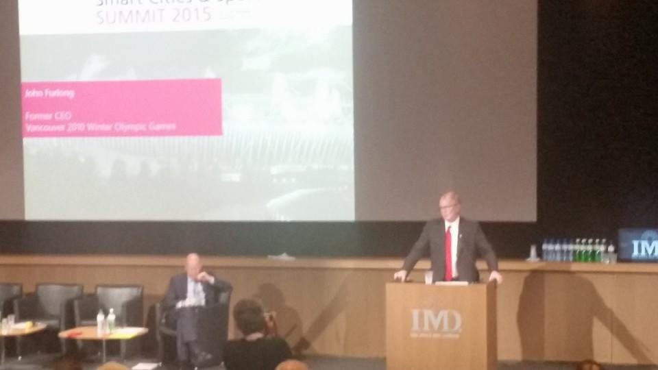 John Furlong provided the keynote address at the Smart Cities & Sport Summit ©ITG