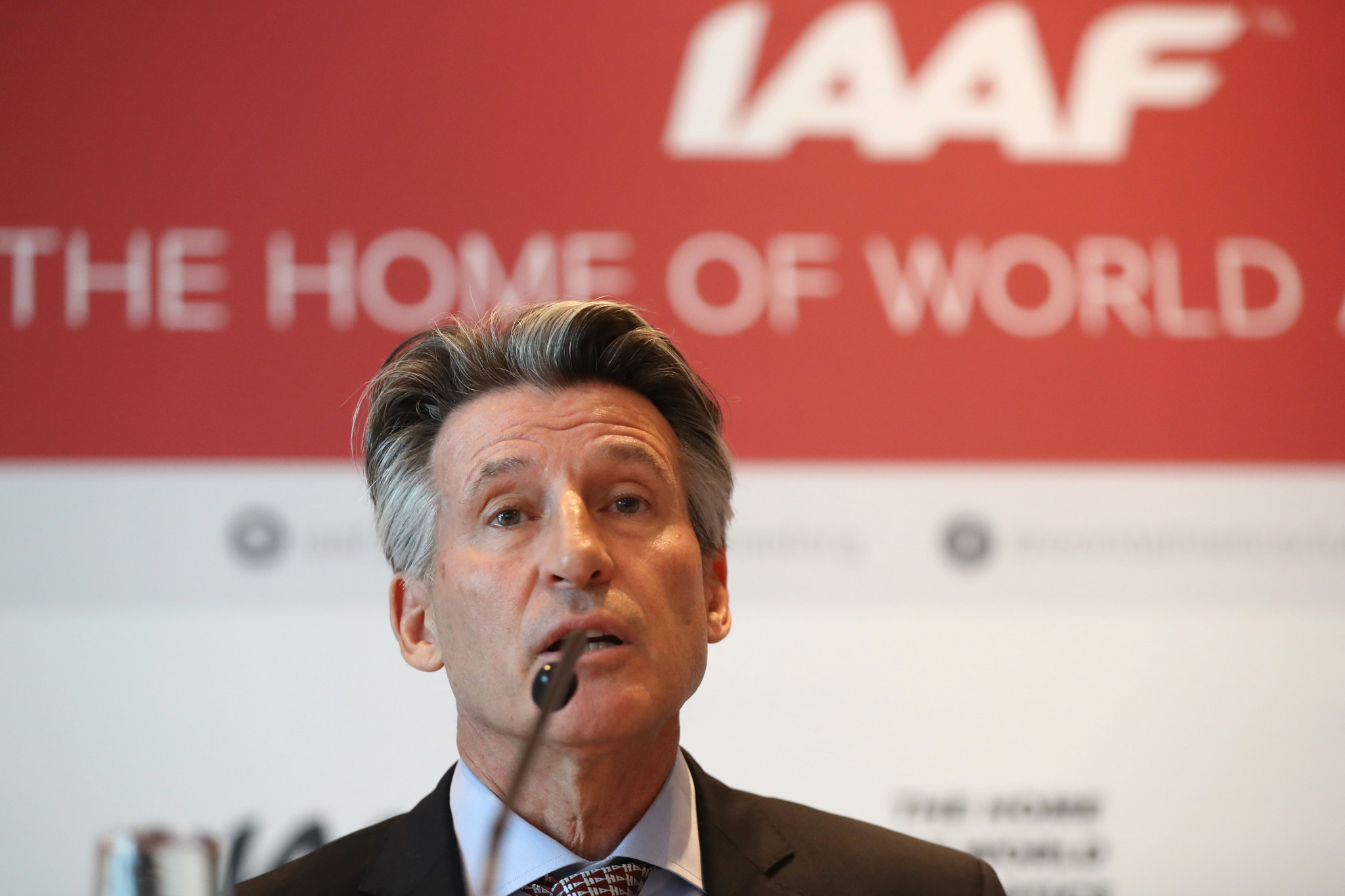 The IAAF, whose President is Sebastian Coe, issued updated guidelines for Russians looking to compete under authorised neutral athlete status last month ©Getty Images