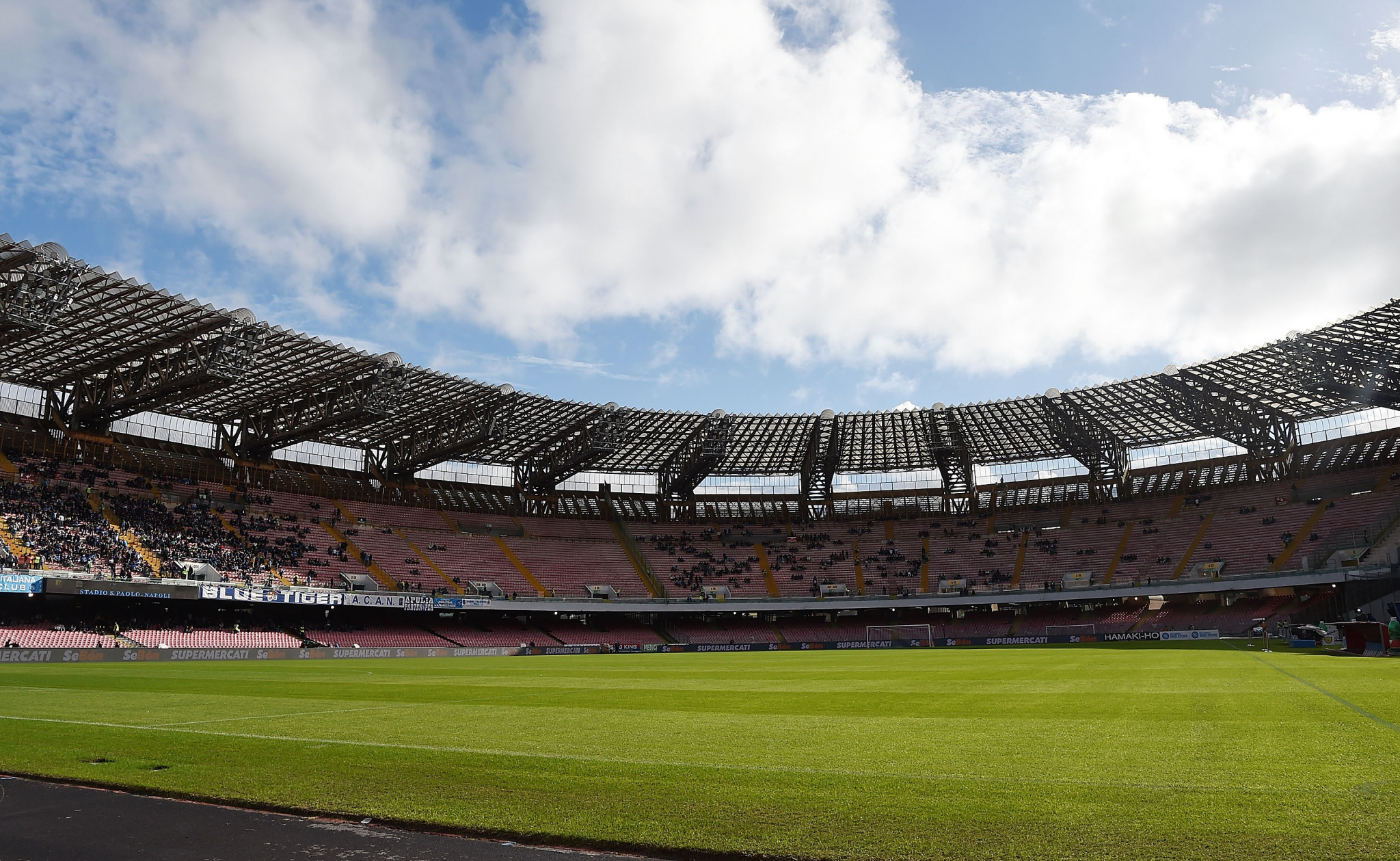 Works planned at the San Paolo Stadium have yet to begin ©Getty Images