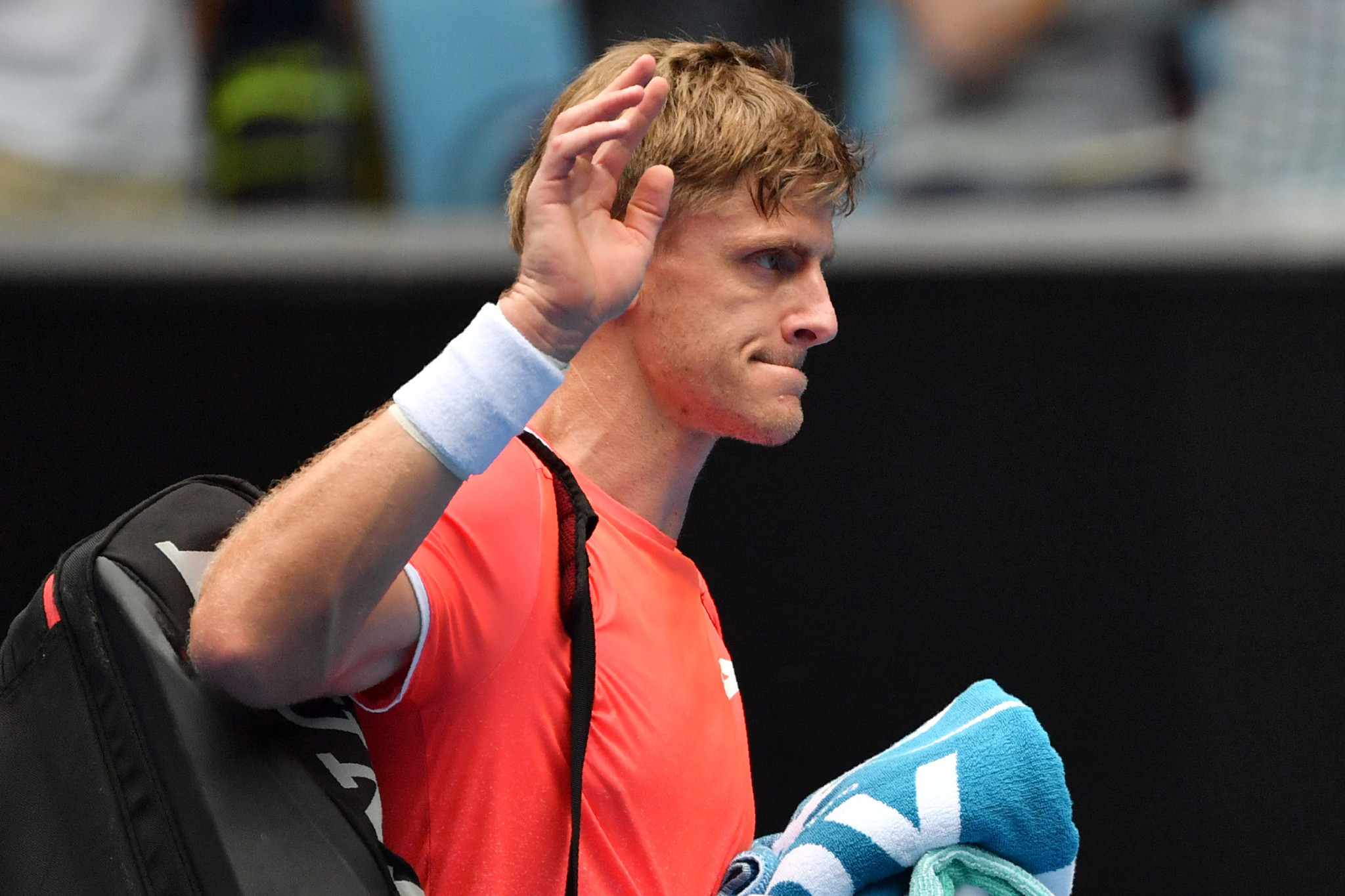 Kevin Anderson waved goodbye to the Australian Open following his shock defeat to Frances Tiafoe ©Getty Images