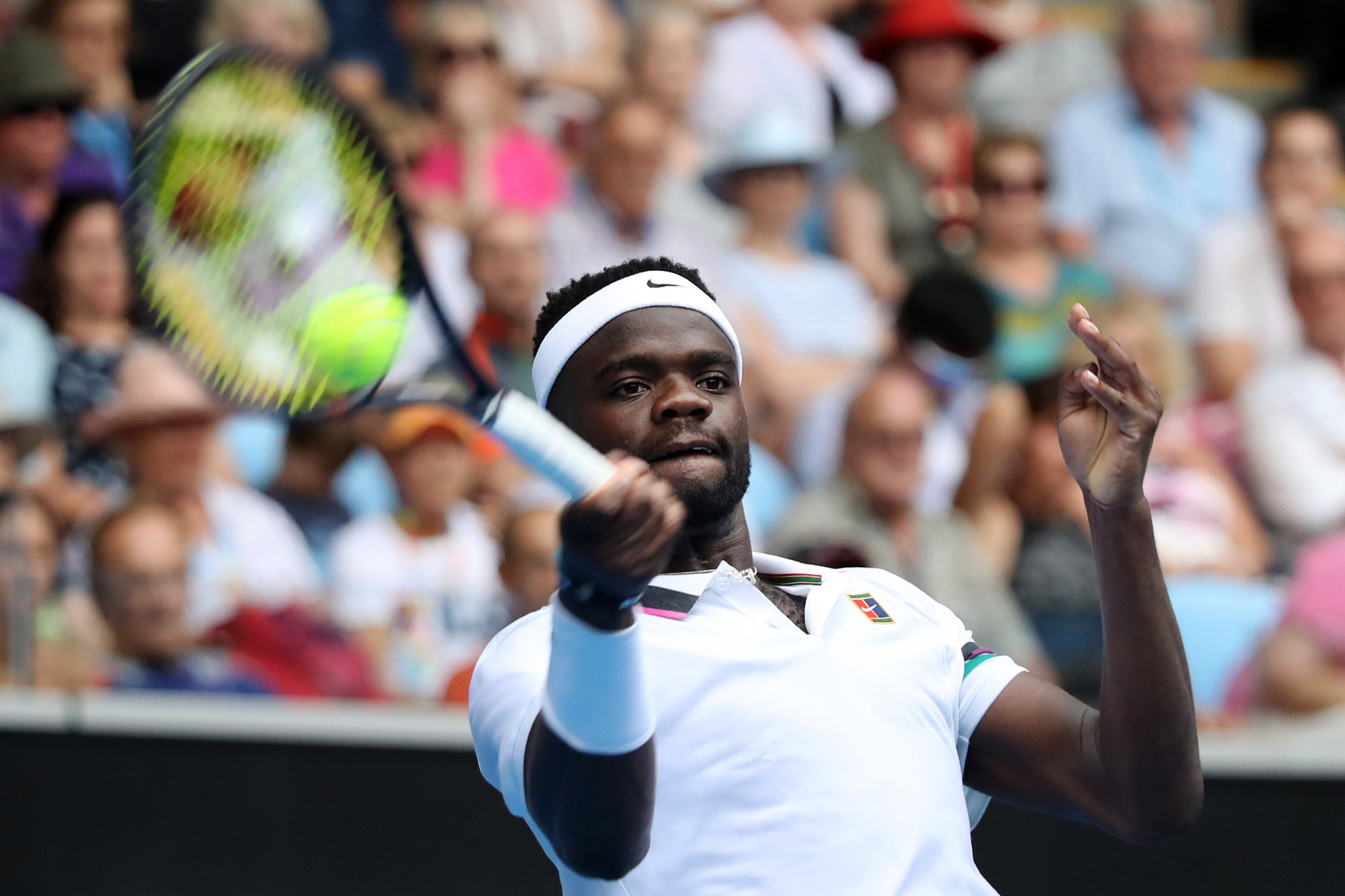 American Frances Tiafoe fought back from a set down to beat last year's Wimbledon finalist ©Getty Images