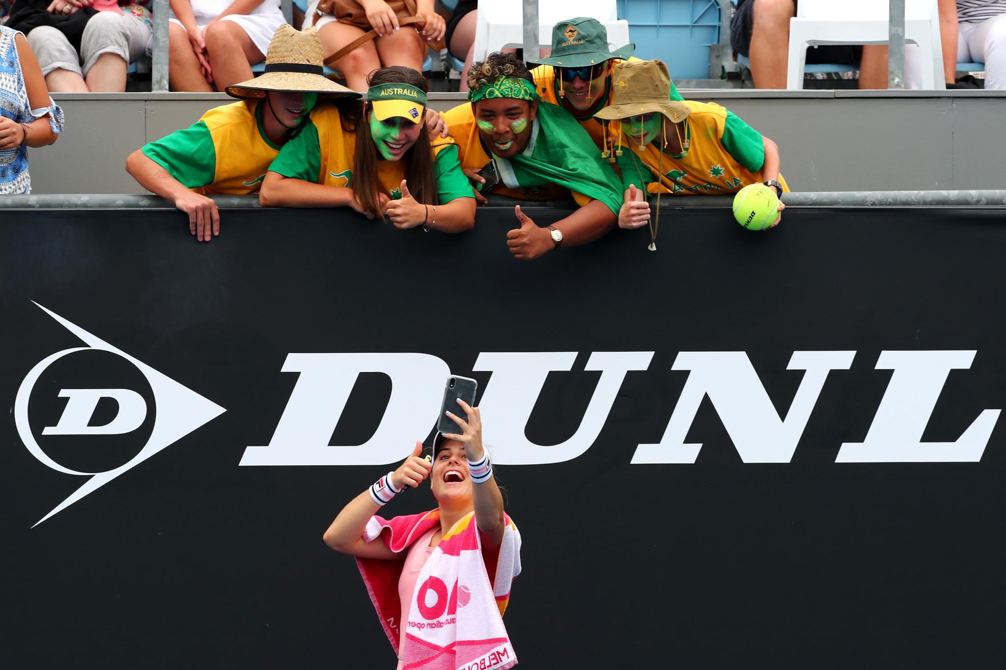 Australian wildcard Kimberly Birrell celebrates after stunning Croatia's Donna Vekic ©Getty Images
