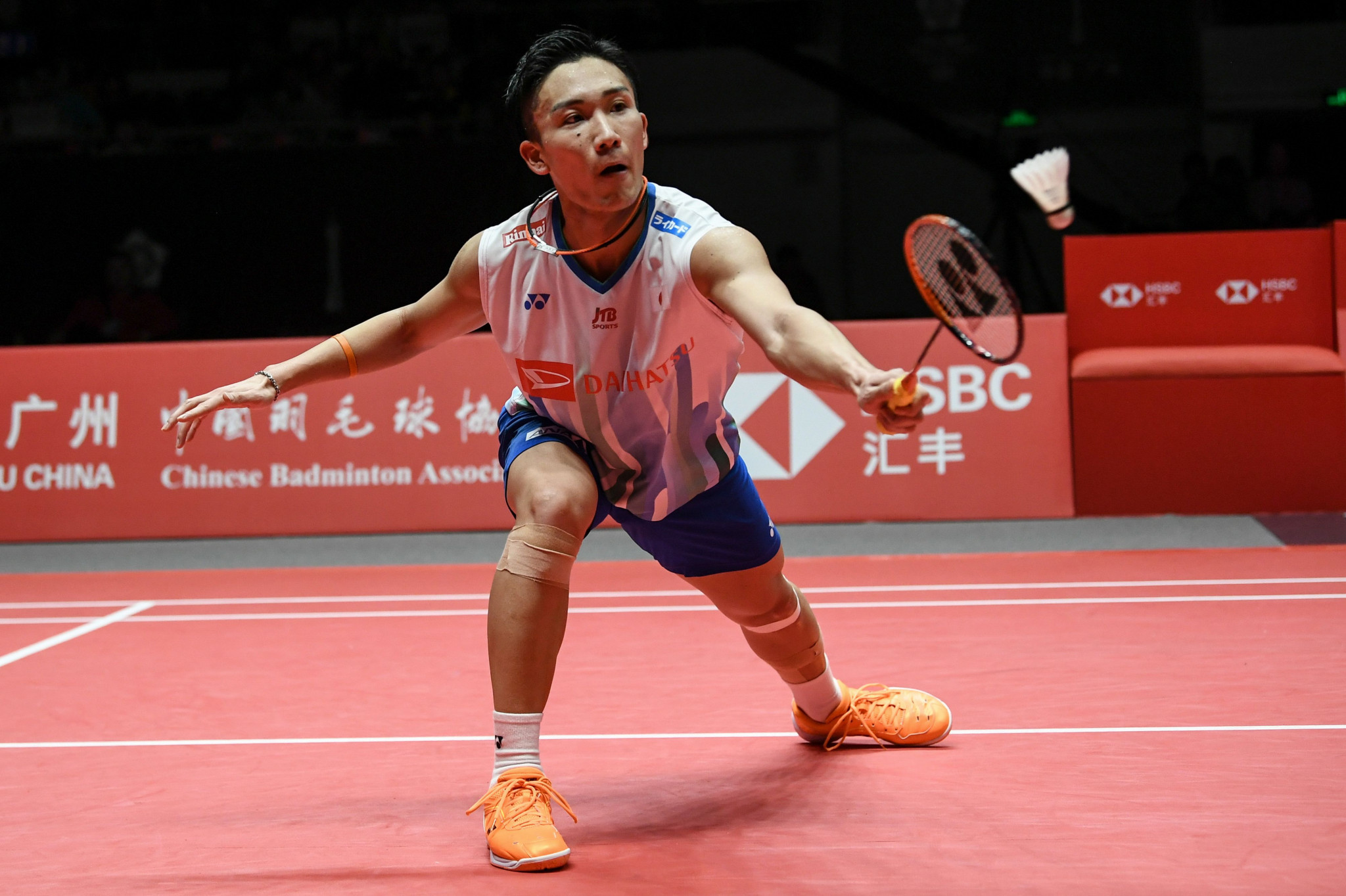 Top seed Kento Momota suffered a shock first-round exit from the BWF Malaysia Masters after losing to fellow Japanese player Kenta Nishimoto in Kuala Lumpur today ©Getty Images