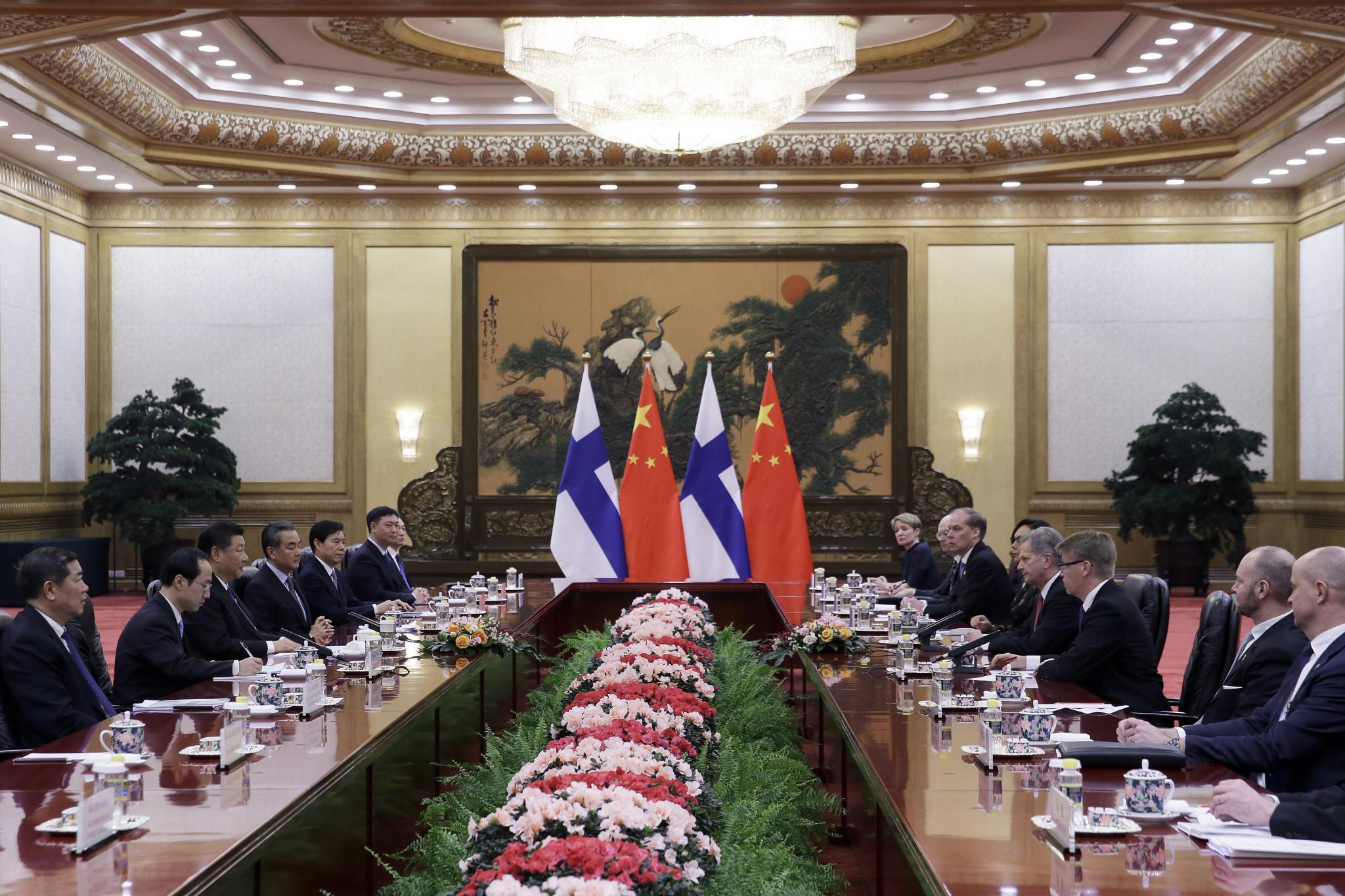 Finnish President Sauli Niinistö visited Beijing this week ©Getty Images