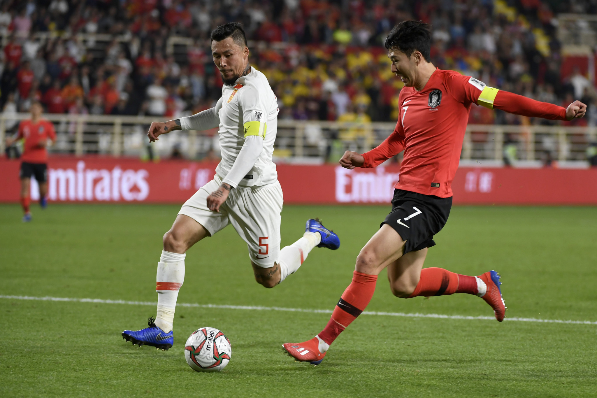 South Korea were boosted by the addition of Son Heung-min to the team, with the striker captaining his side to a 2-0 victory over China at the AFC Asian Cup ©Getty Images