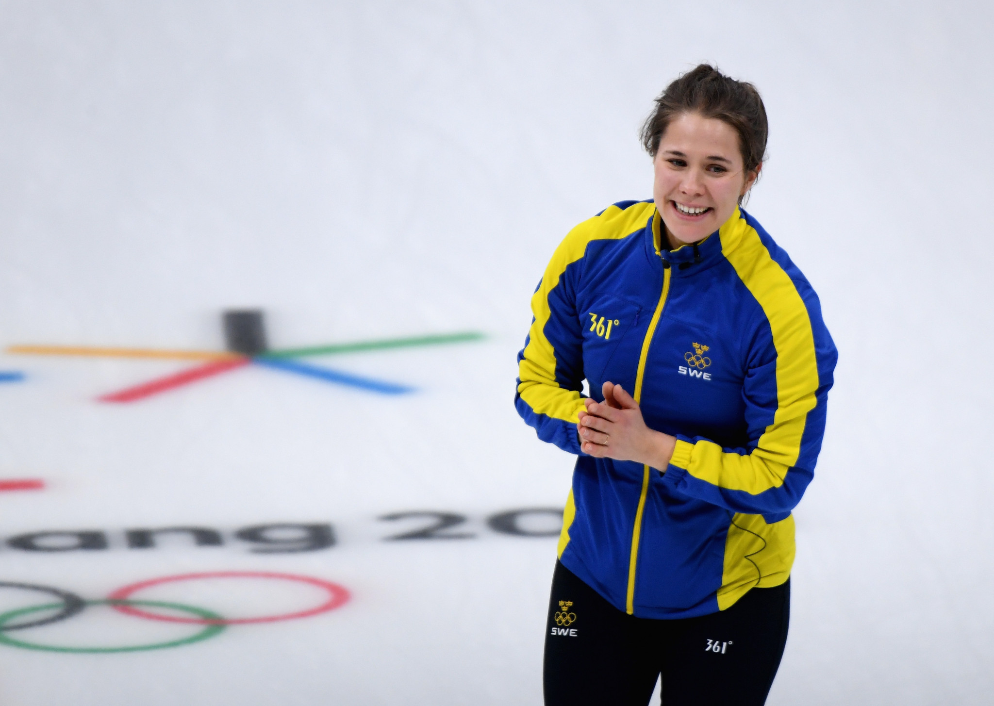 Sweden's Anna Hasselborg, 2018 Olympic champion, will skip a team at the Continental Cup of Curling in Las Vegas ©Getty Images
