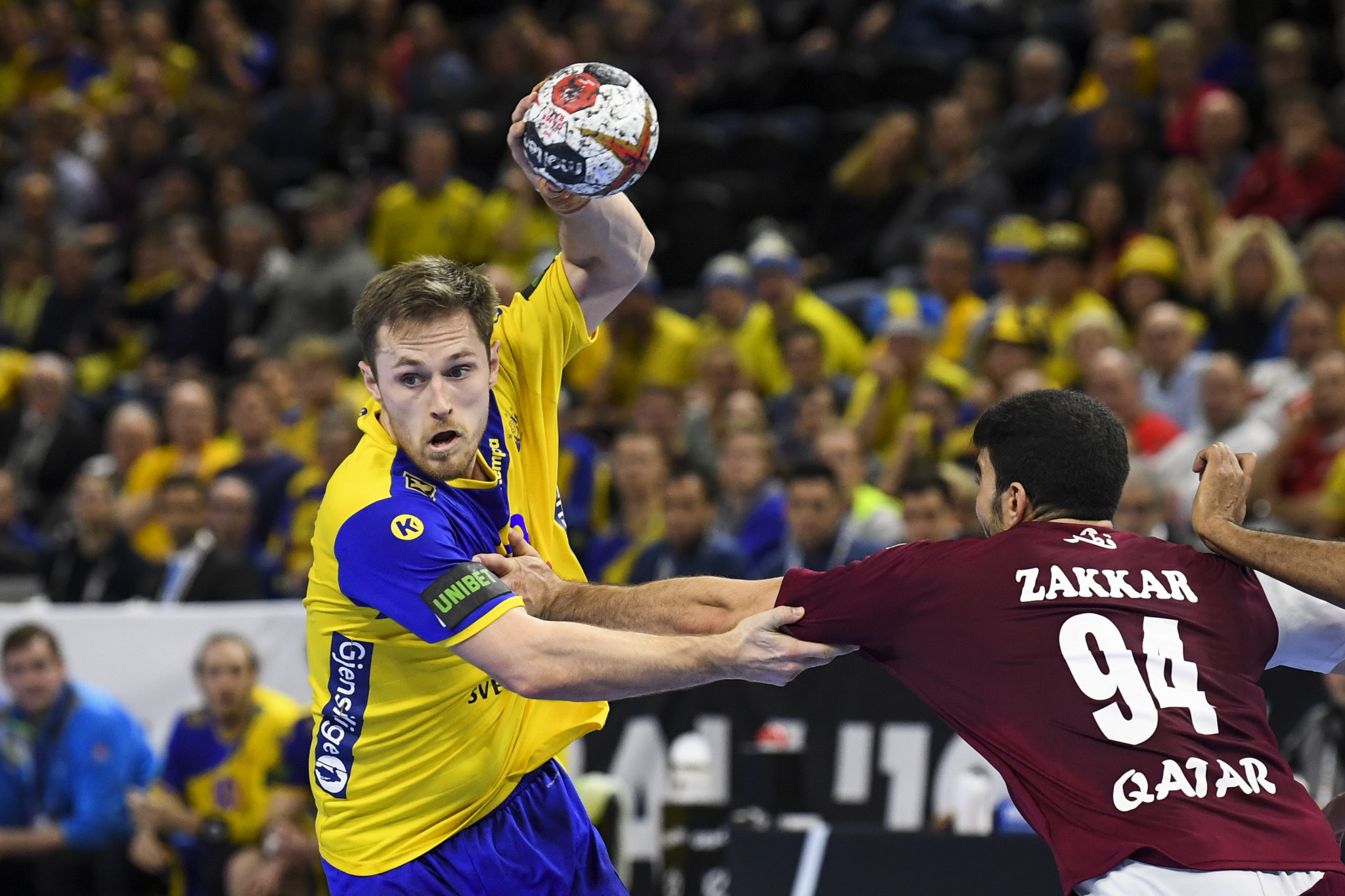 Sweden defeated Qatar in Group D of the IHF Men's Handball World Championship to remain undefeated at the competition ©Getty Images