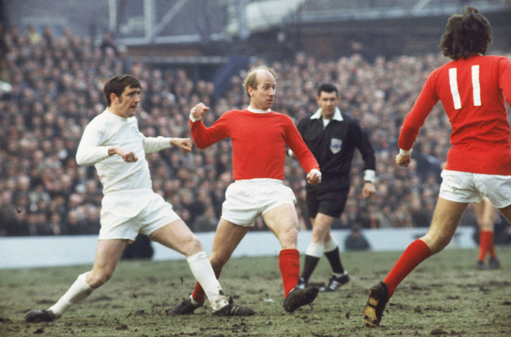 Norman Hunter, left, in action against Bobby Charlton and George Best of Manchester United, used to find the dossiers on opponents read out by his Leeds manager Don Revie so detailed that he would struggle to stay awake ©Getty Images