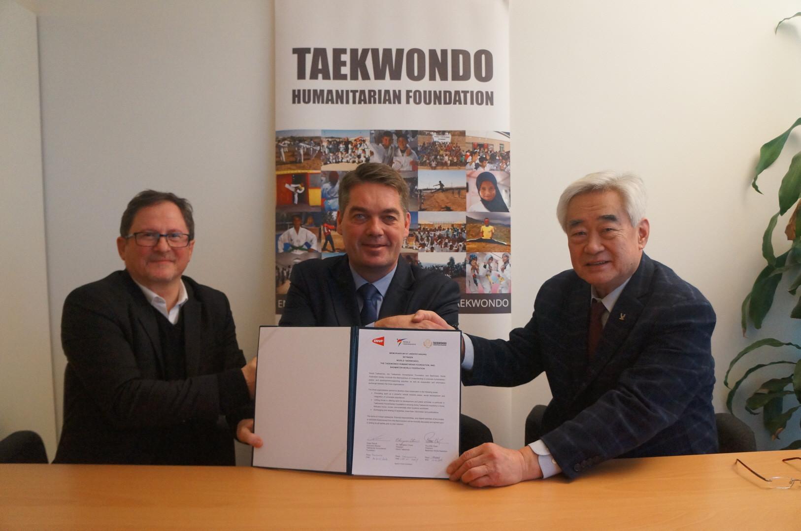 The Badminton World Federation has signed an MoU with World Taekwondo and the Taekwondo Humanitarian Foundation ©World Taekwondo