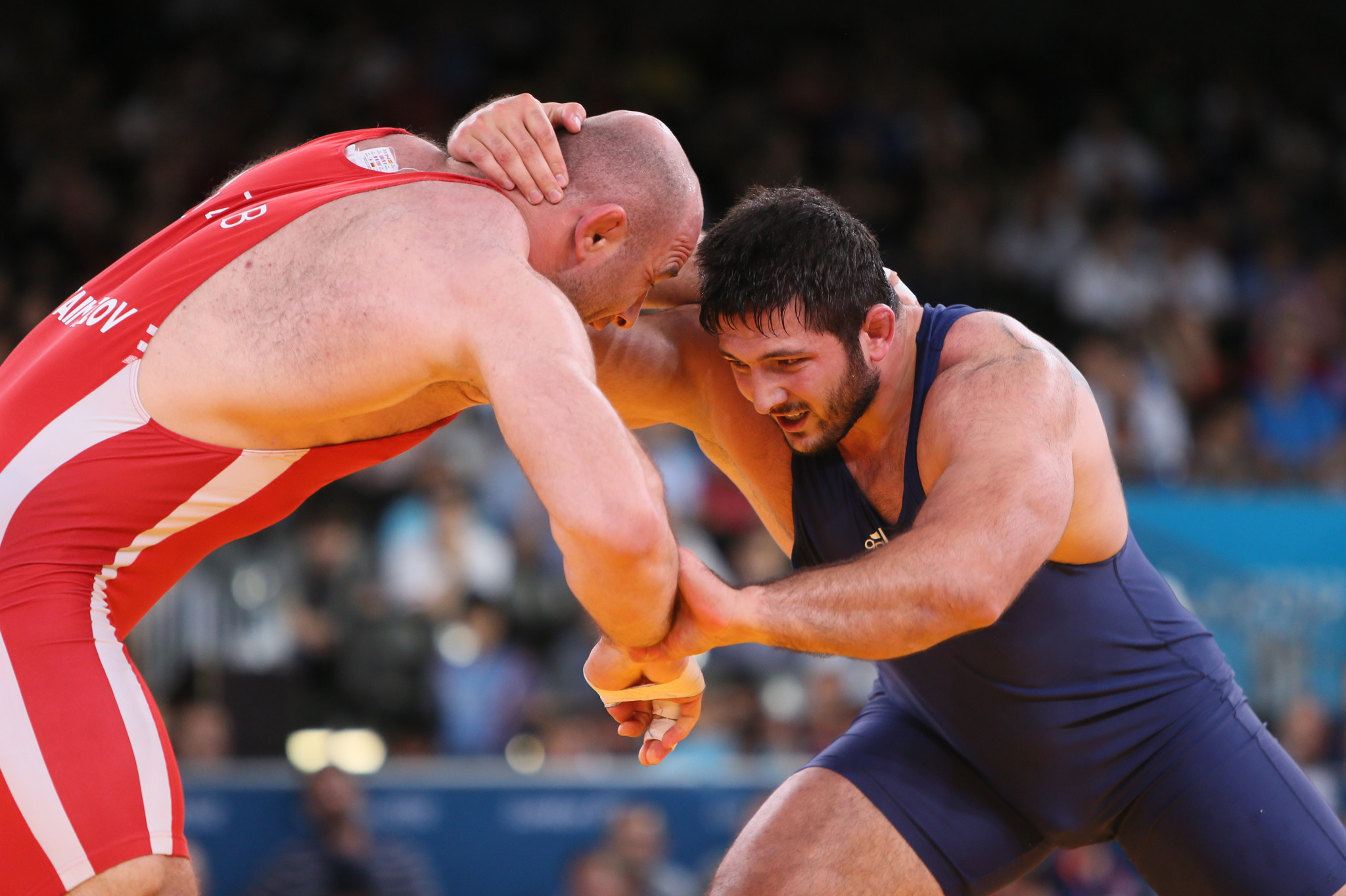 Davit Modzmanashvili has been stripped of the silver medal he claimed in the men's 120 kilograms freestyle wrestling event at the London 2012 Olympic Games ©Getty Images