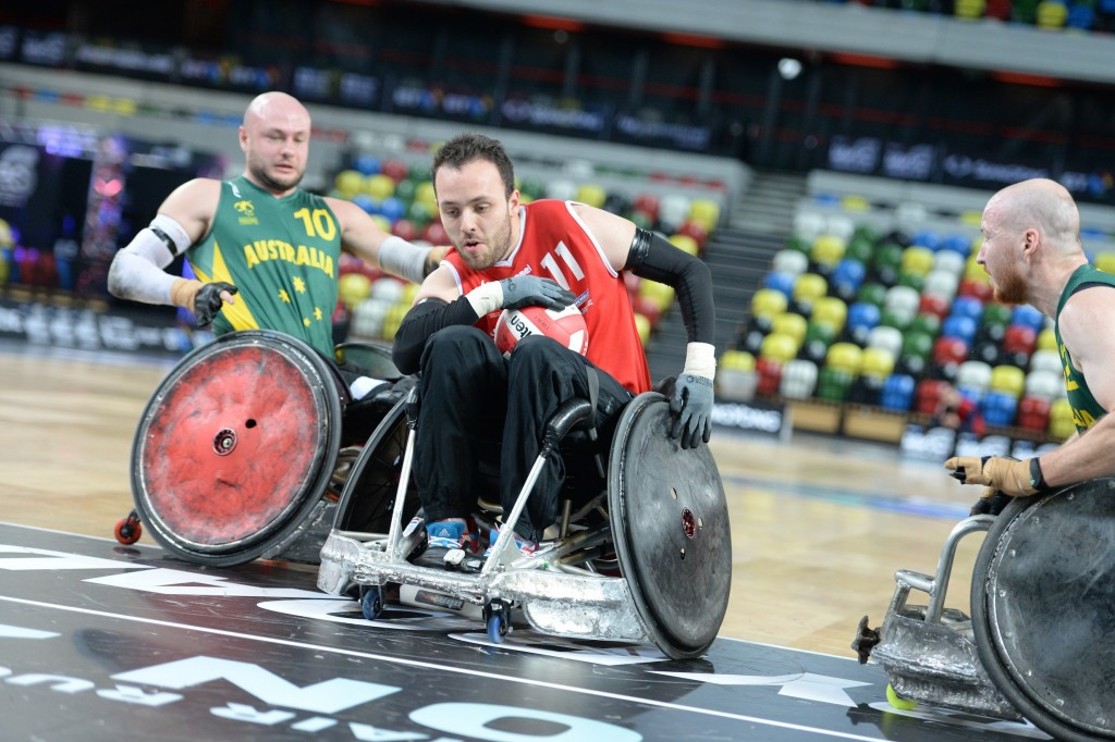 Paralympic champions the first to qualify for semi-finals of BT World Wheelchair Rugby Challenge