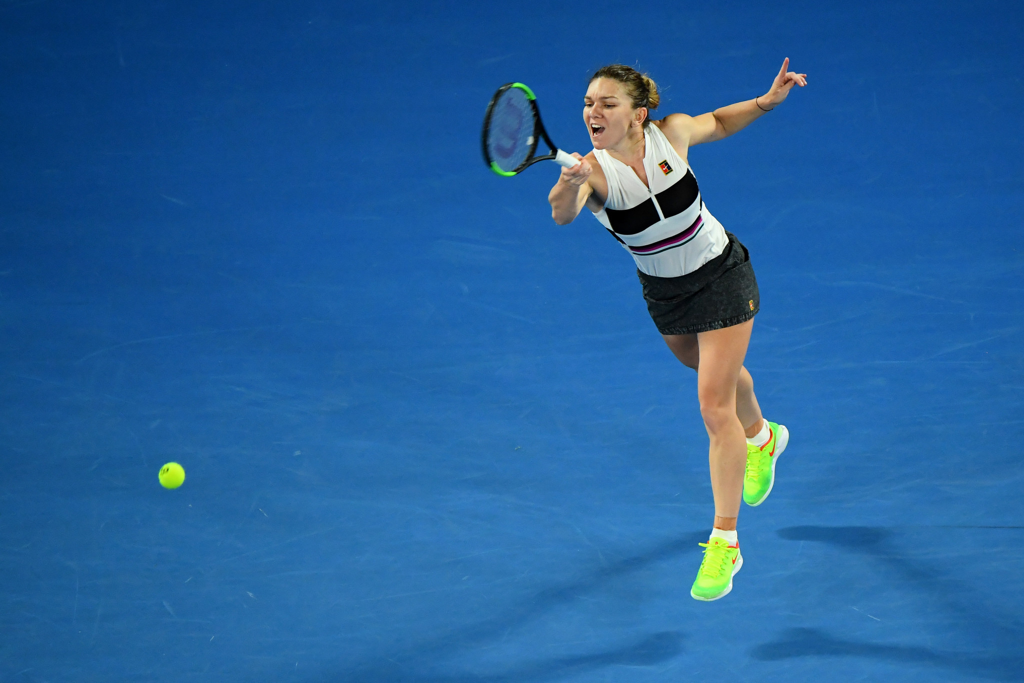 Women's world number one Simona Halep survived a scare before she eventually reached the third round ©Getty Images